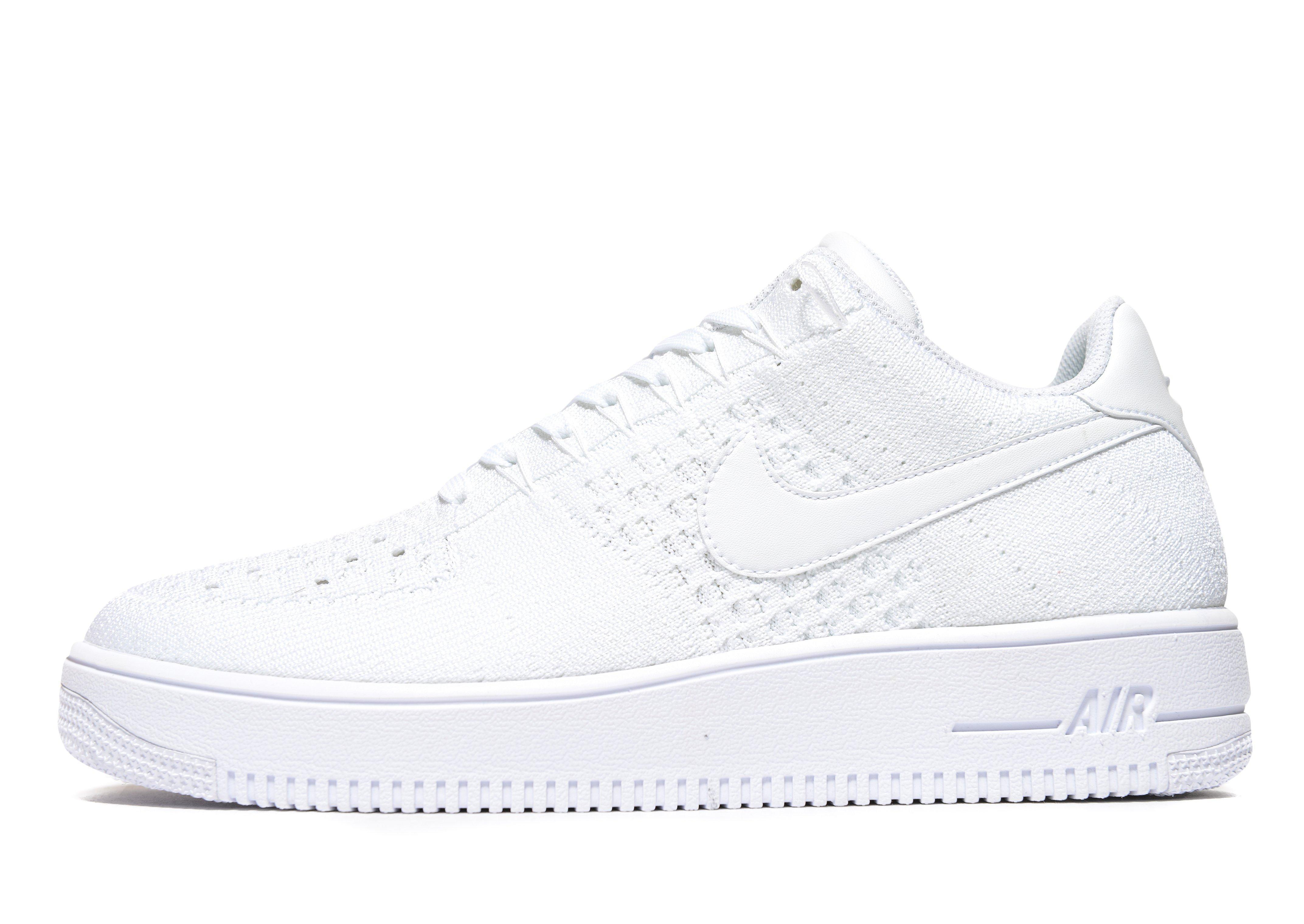 promo code 64943 428ae Nike Air Force 1 Ultra Flyknit Low in White for Men - Lyst
