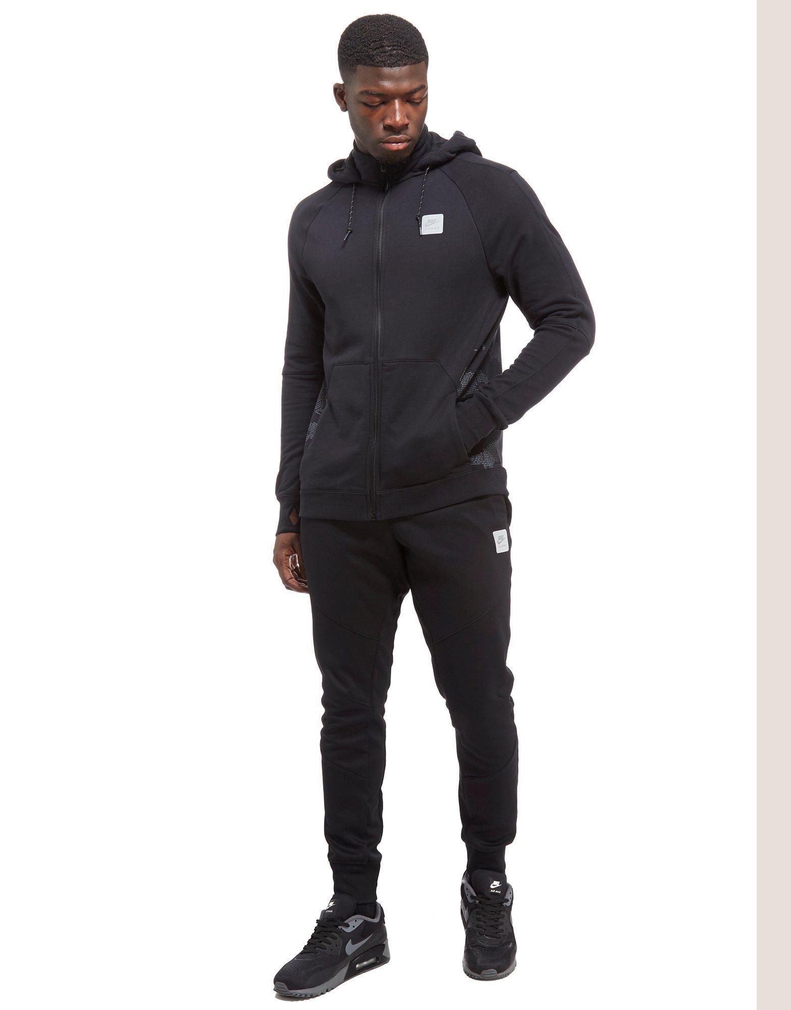 nike air max black hoodie