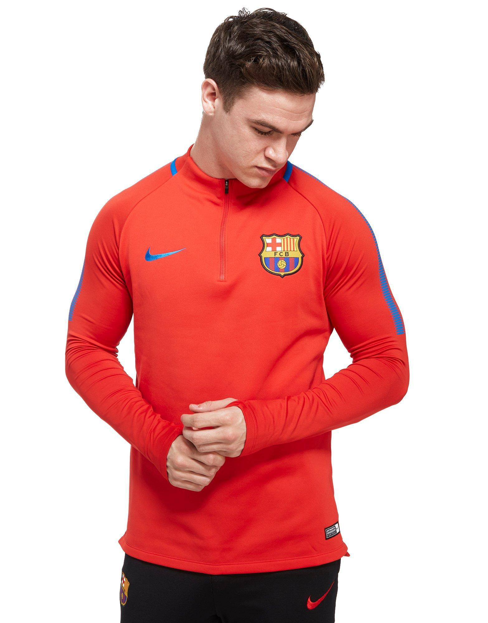 935ca3d4b Gallery. Previously sold at  JD Sports. Nike Fc Barcelona 2017 Squad Drill  Top in Red for Men - Lyst