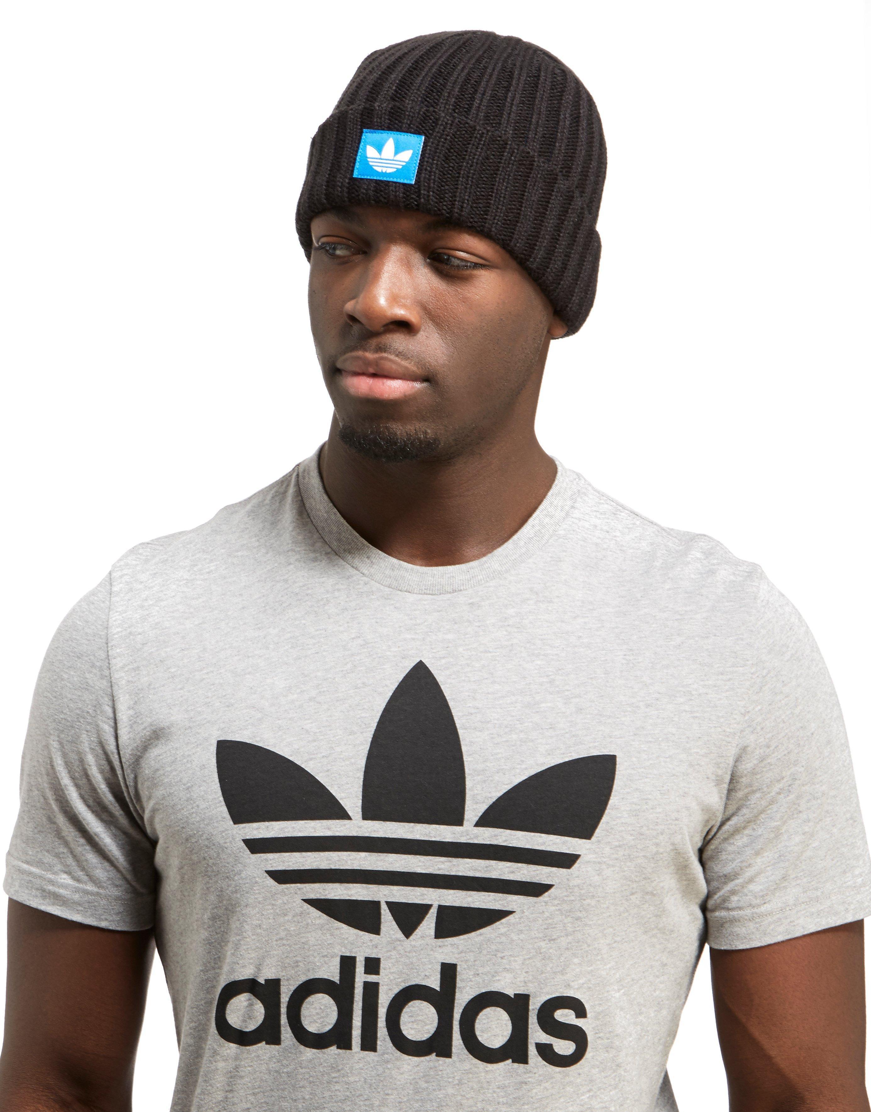 adidas Originals Trefoil Fisherman Beanie in Black for Men - Lyst c92cbf4d16b