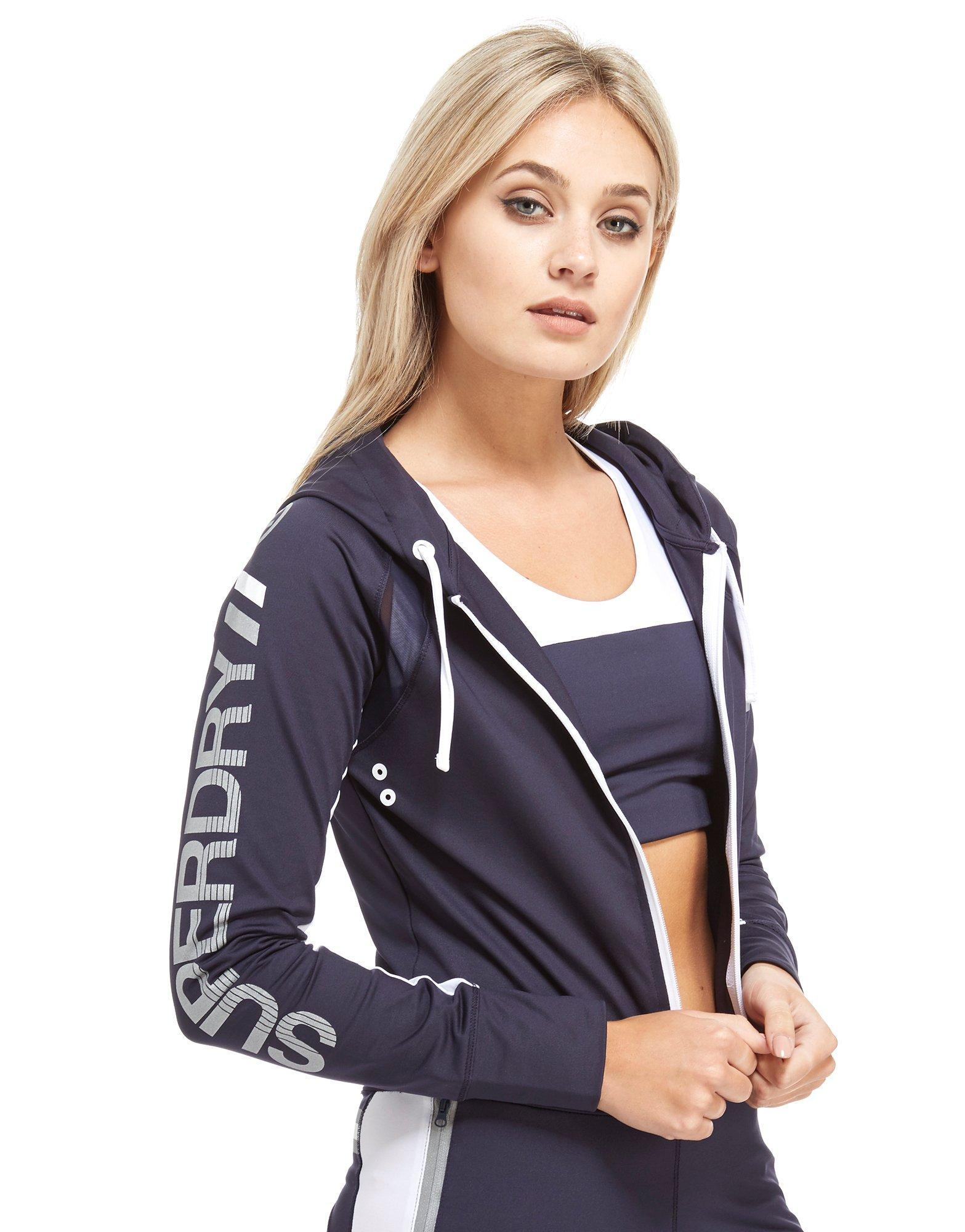 3eb474b0f2b7 Superdry Speed Full-zip Hoody in Blue - Lyst