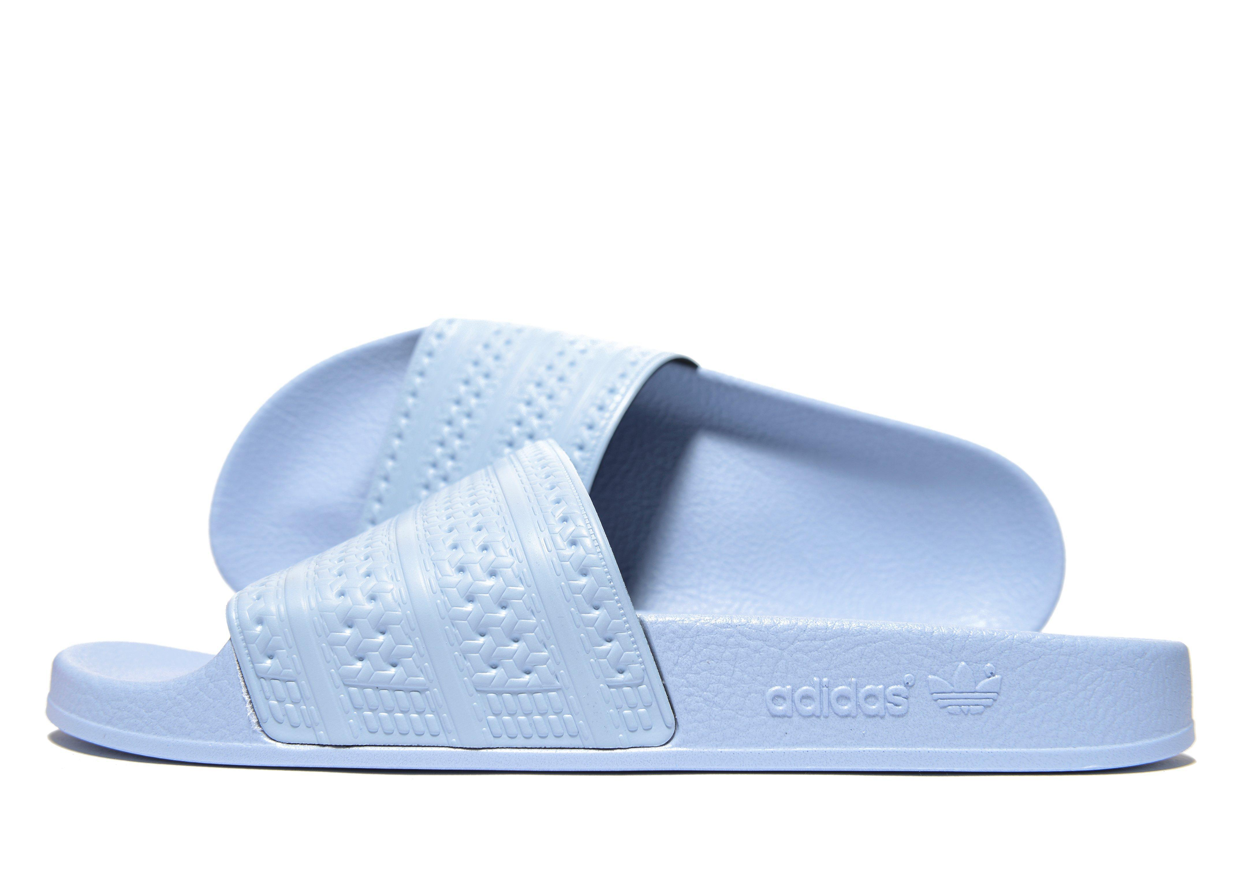 2e4888b9032eee Adidas Originals - Blue Adilette Slides for Men - Lyst. View fullscreen