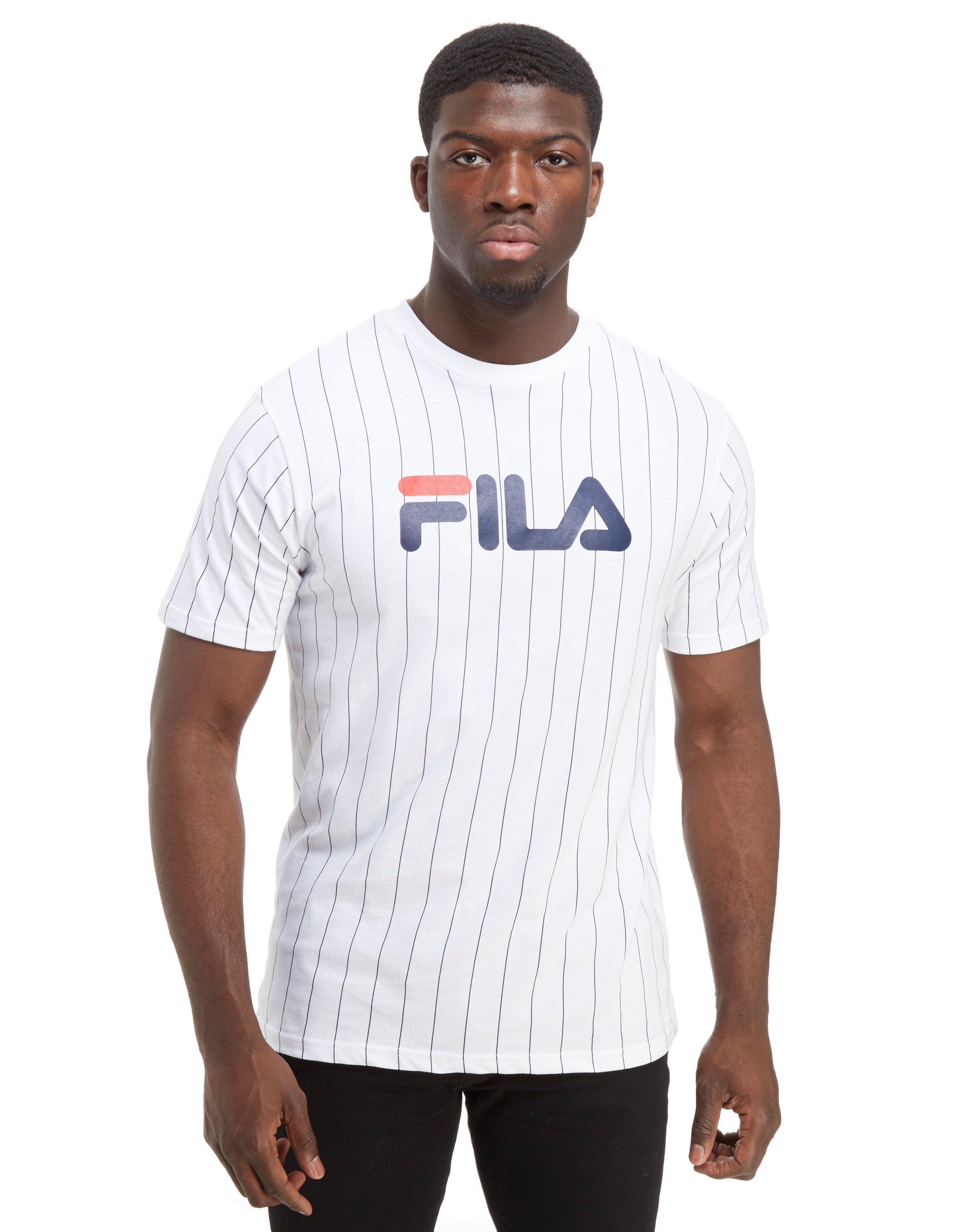 a2331a5e39 Fila Gregor Stripe T-shirt in White for Men - Lyst
