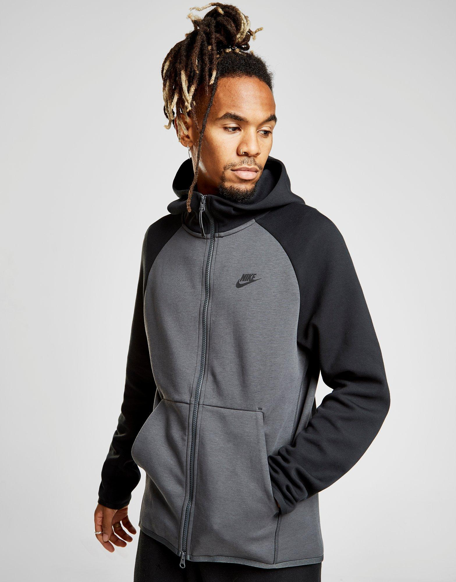 fc3e734345 Nike Tech Fleece Windrunner Hoodie in Gray for Men - Lyst