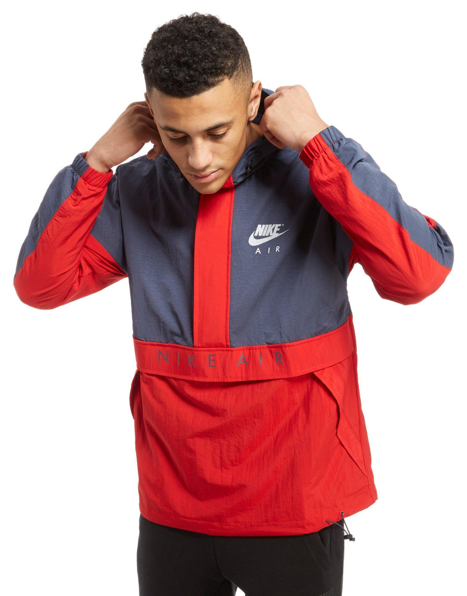 nike air half zip jacket in red for men lyst. Black Bedroom Furniture Sets. Home Design Ideas