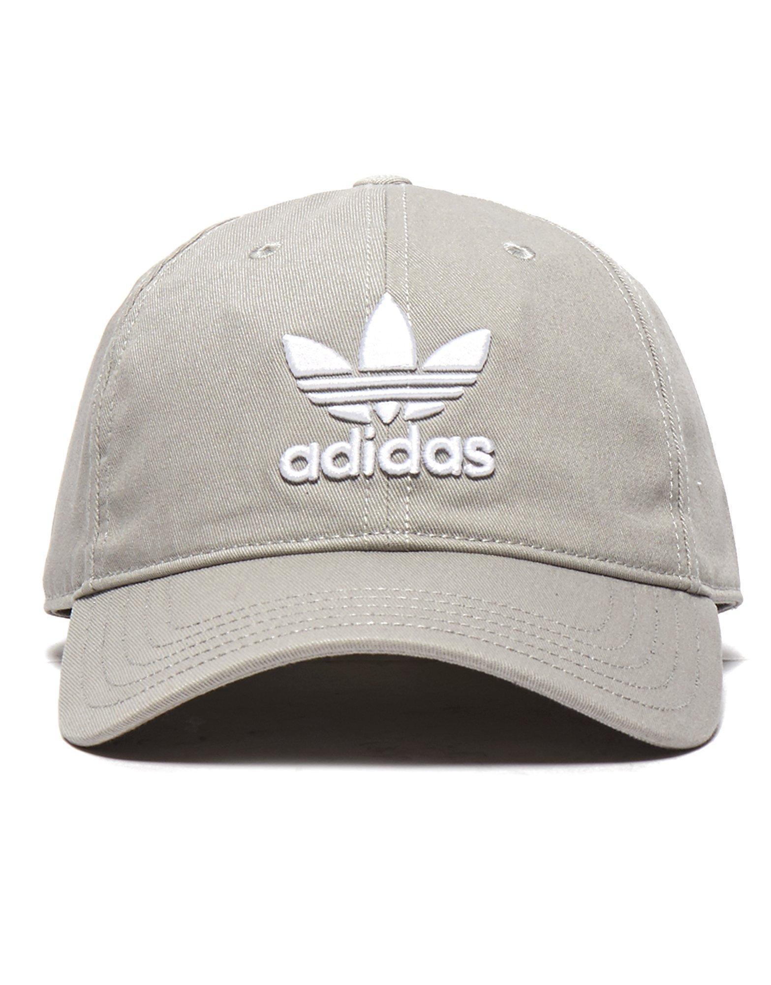 adidas Originals Trefoil Classic Cap in Gray for Men - Lyst c6d46a13c611