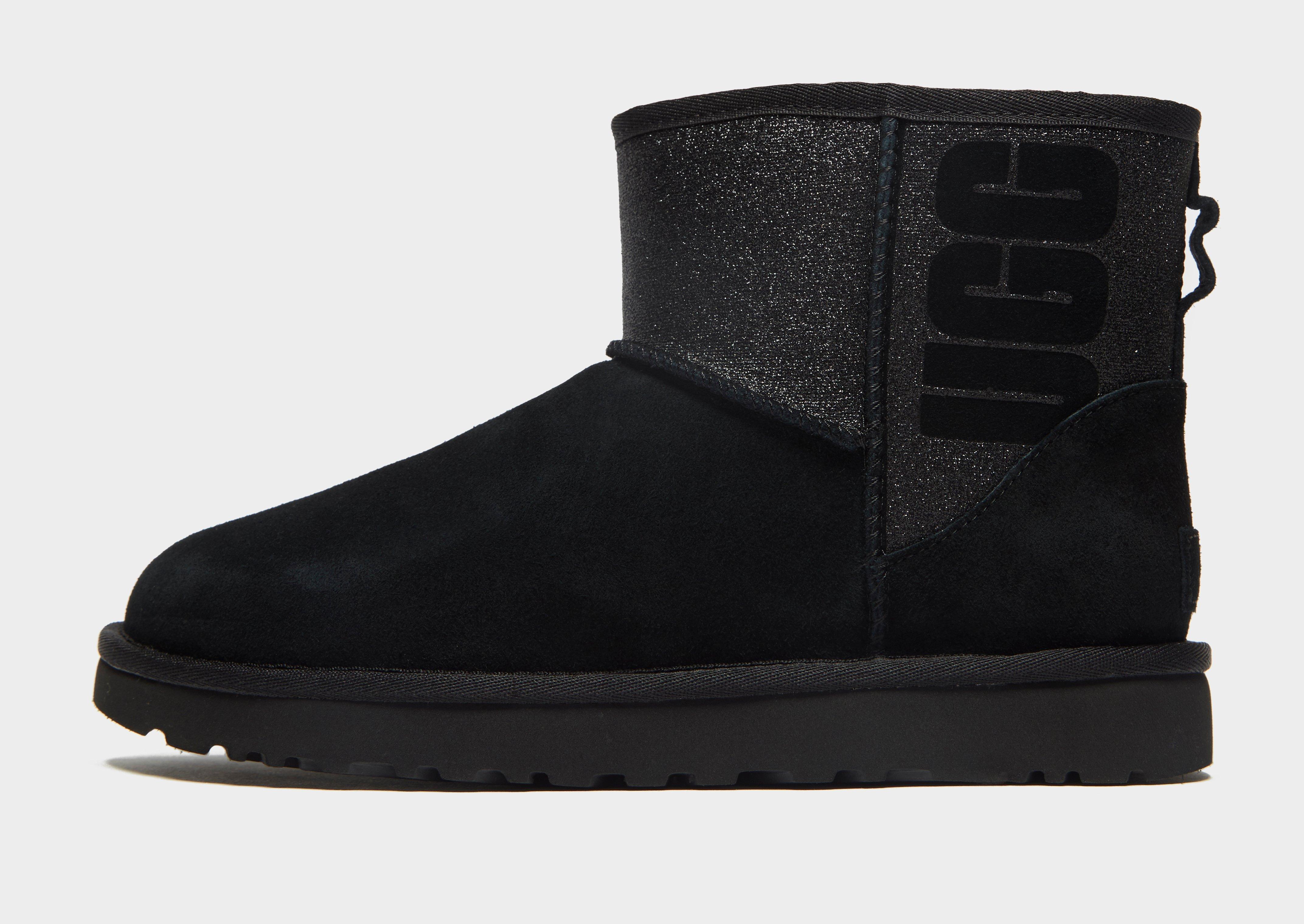 ab2ef669442 Ugg - Black Mini Sparkle Boots - Lyst