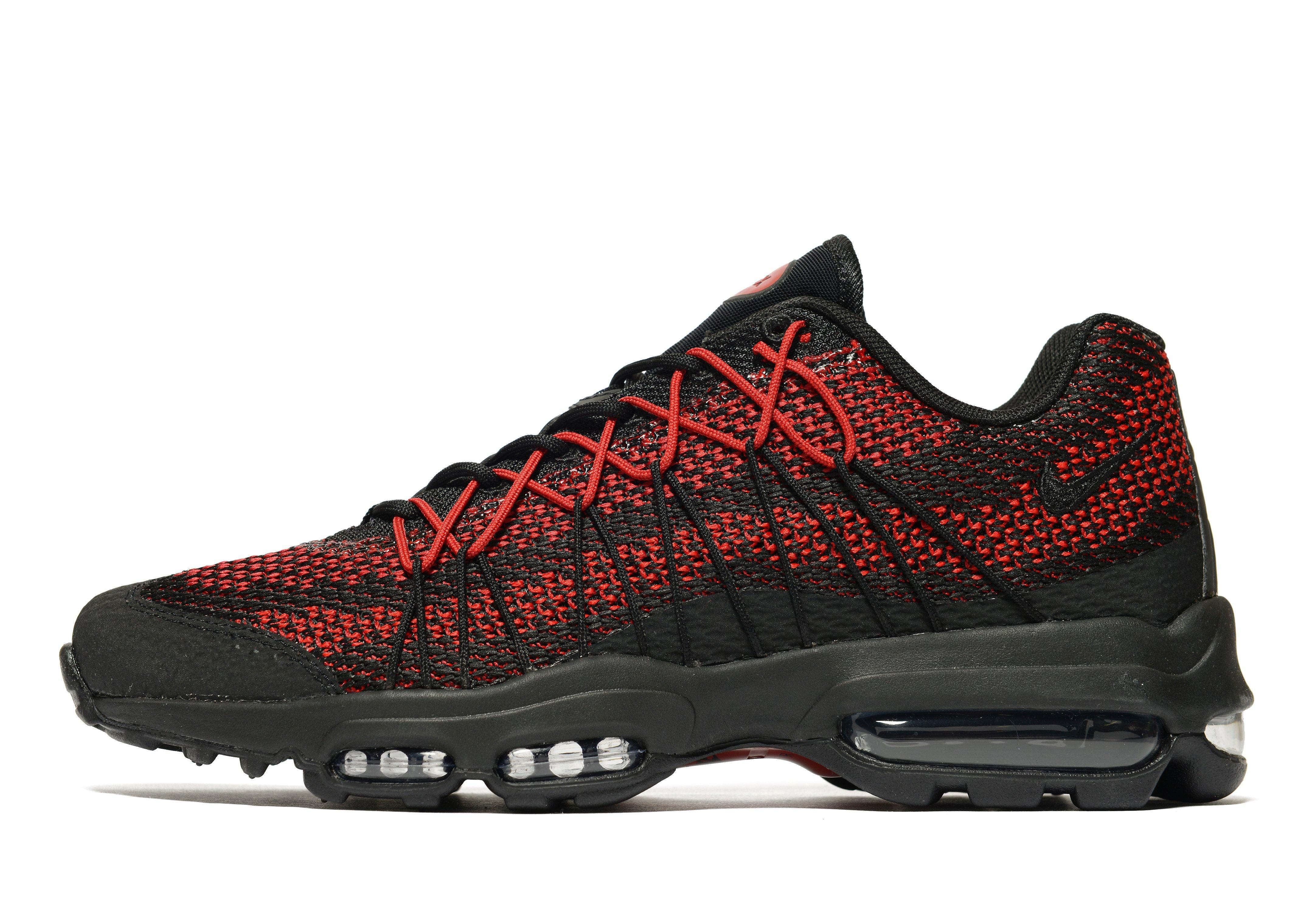Nike Synthetic Air Max 95 Ultra Jacquard in BlackRed (Red