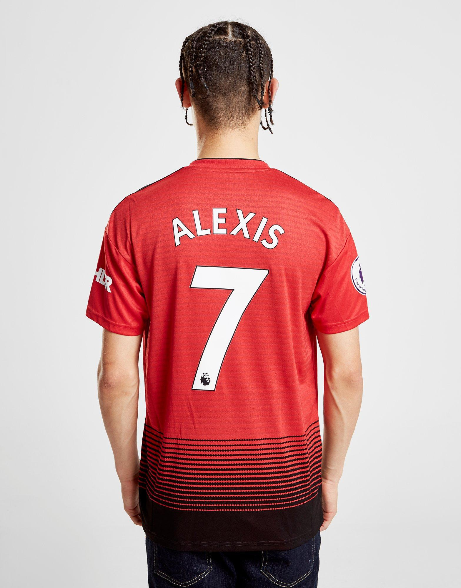 3bcc3db5 Lyst - Adidas Manchester United Fc 2018/19 Alexis #7 Home Shirt in ...