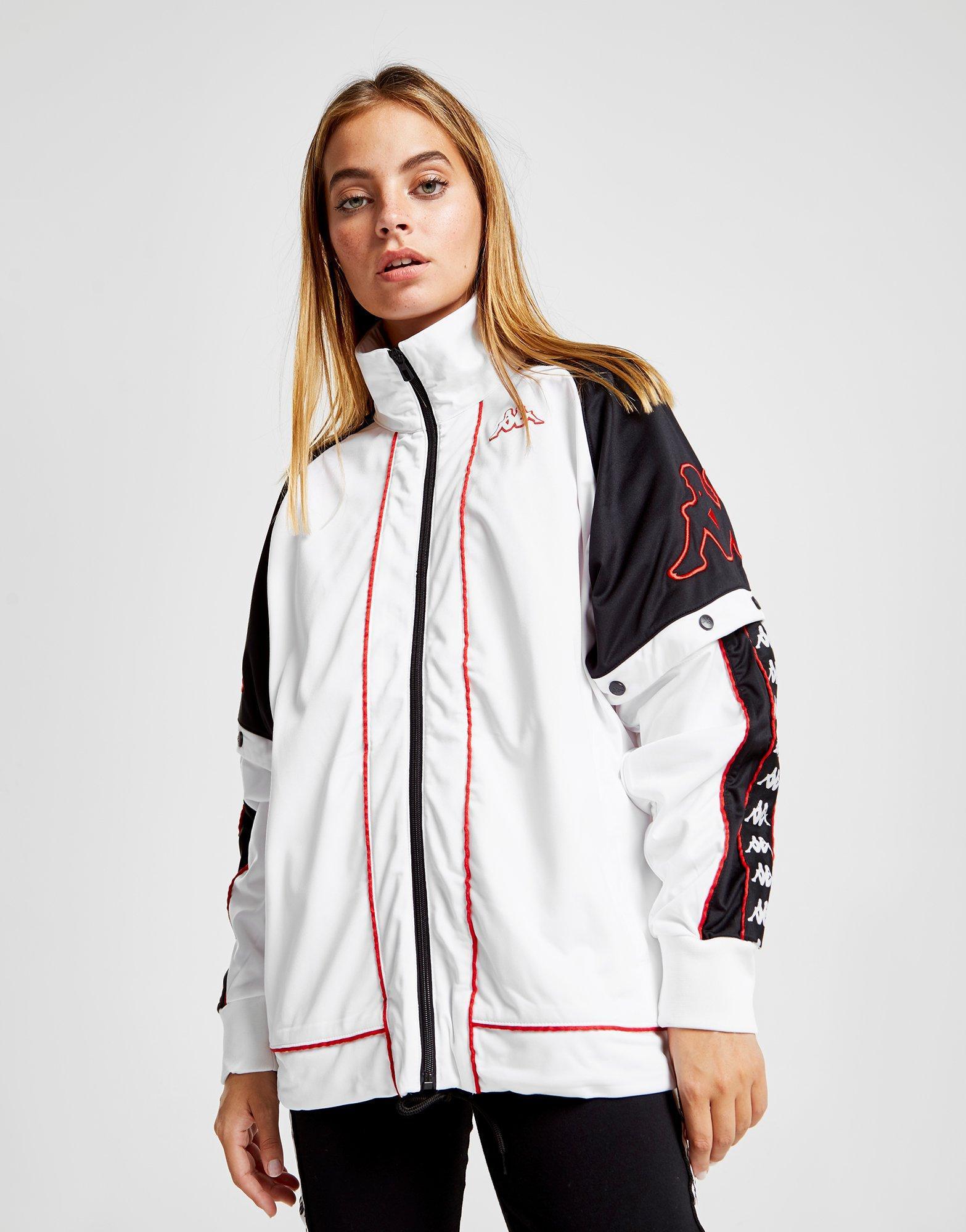 e68667939d6e Lyst - Kappa Panel Popper Jacket in White