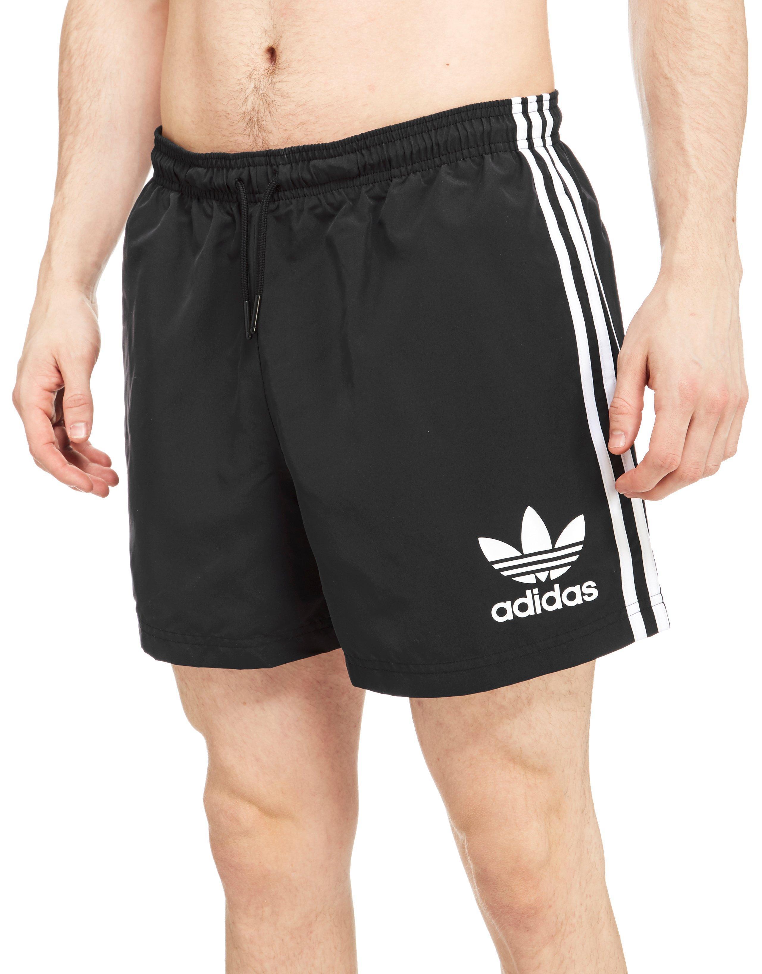 673e712f74 adidas Originals Cali Swimshorts in Black for Men - Lyst