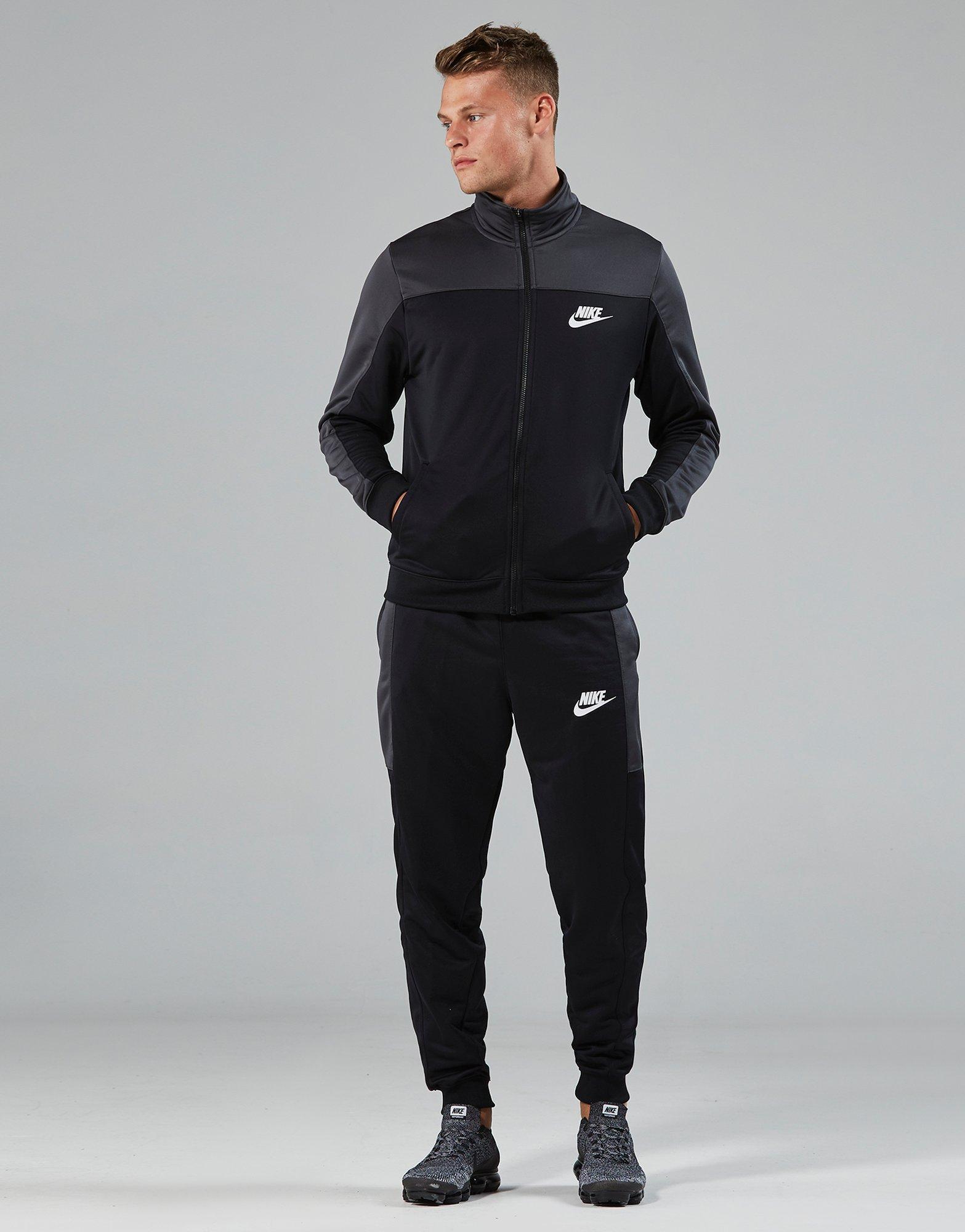 7dc047ac45 View  sale retailer 4a925 383f8 Lyst - Nike Season Colourblock Tracksuit in  Black for Men ...