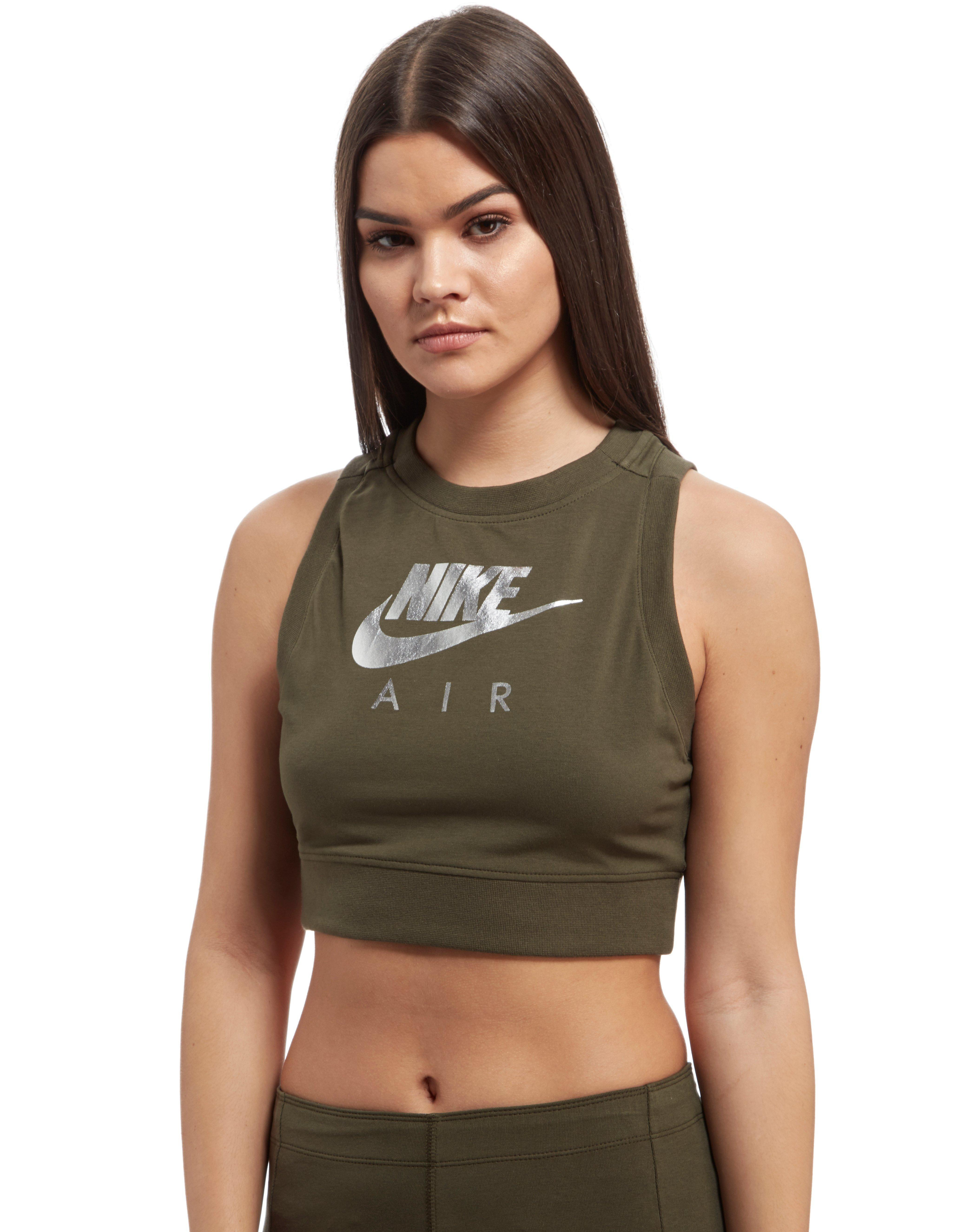 64441fe8ce1c94 Lyst - Nike Air Crop Top in Green