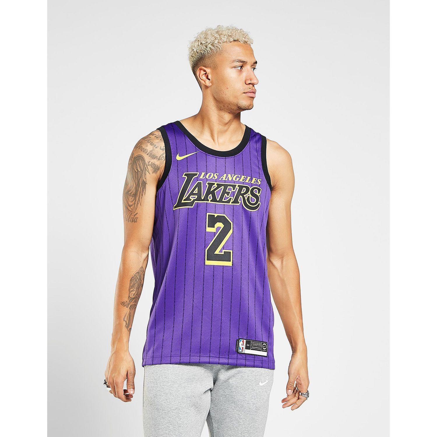 5a4aab375 Lyst - Nike Nba Los Angeles Lakers Ball  2 City Jersey in Purple for Men