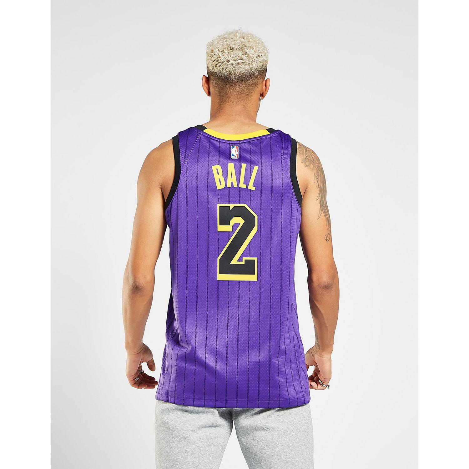 Nike - Purple Nba Los Angeles Lakers Ball  2 City Jersey for Men - Lyst.  View fullscreen 463c65d3c