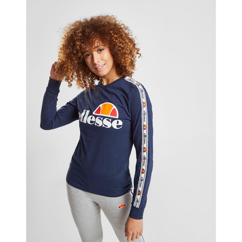 58fbd377f2b Ellesse - Blue Tape Long Sleeve Boyfriend T-shirt - Lyst. View fullscreen