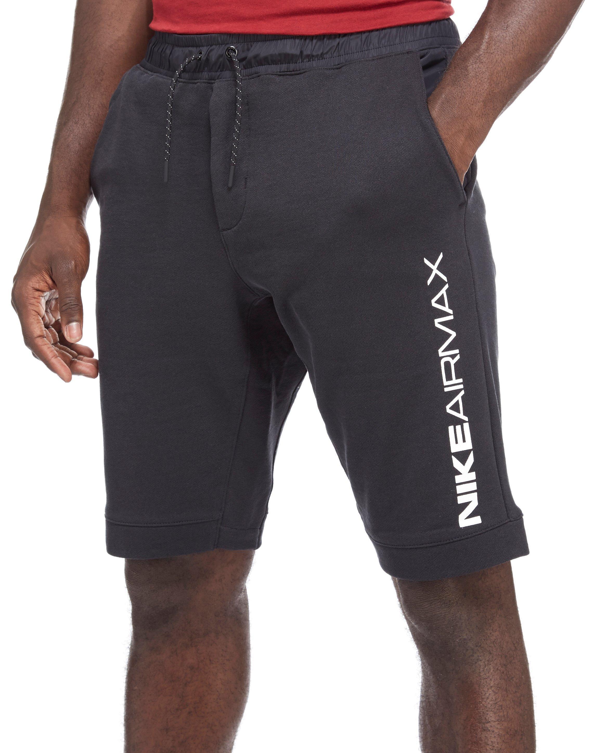 05b79a2542207f Lyst - Nike Air Max Fleece Shorts in Black for Men