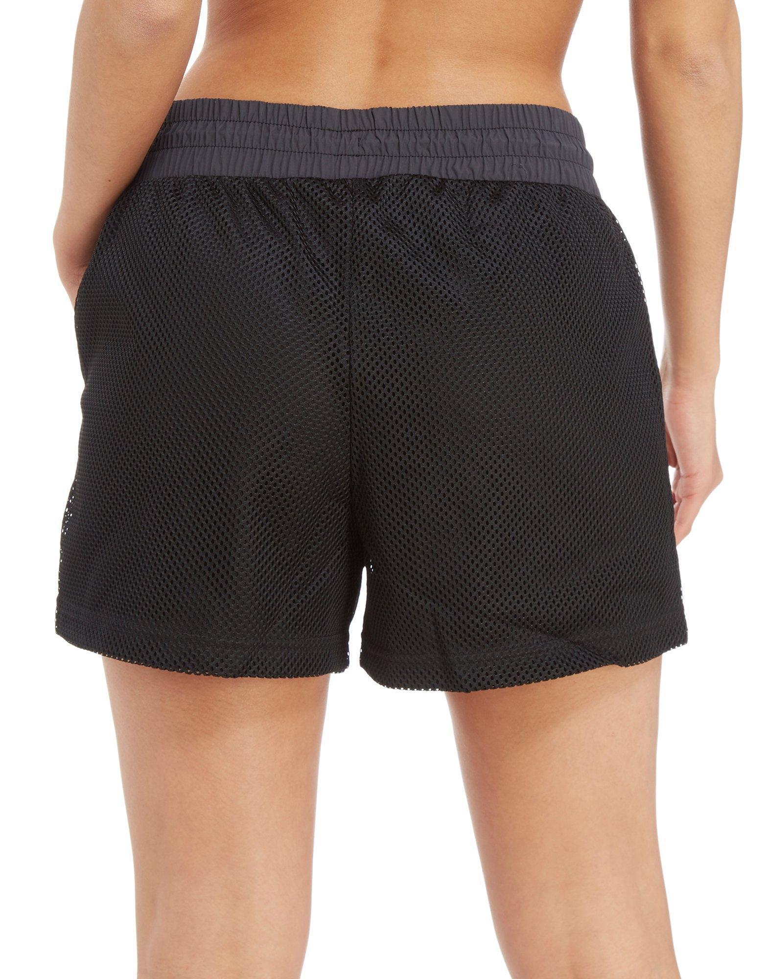 7c62b3c48ccfe Nike Swoosh Mesh Shorts in Black - Lyst