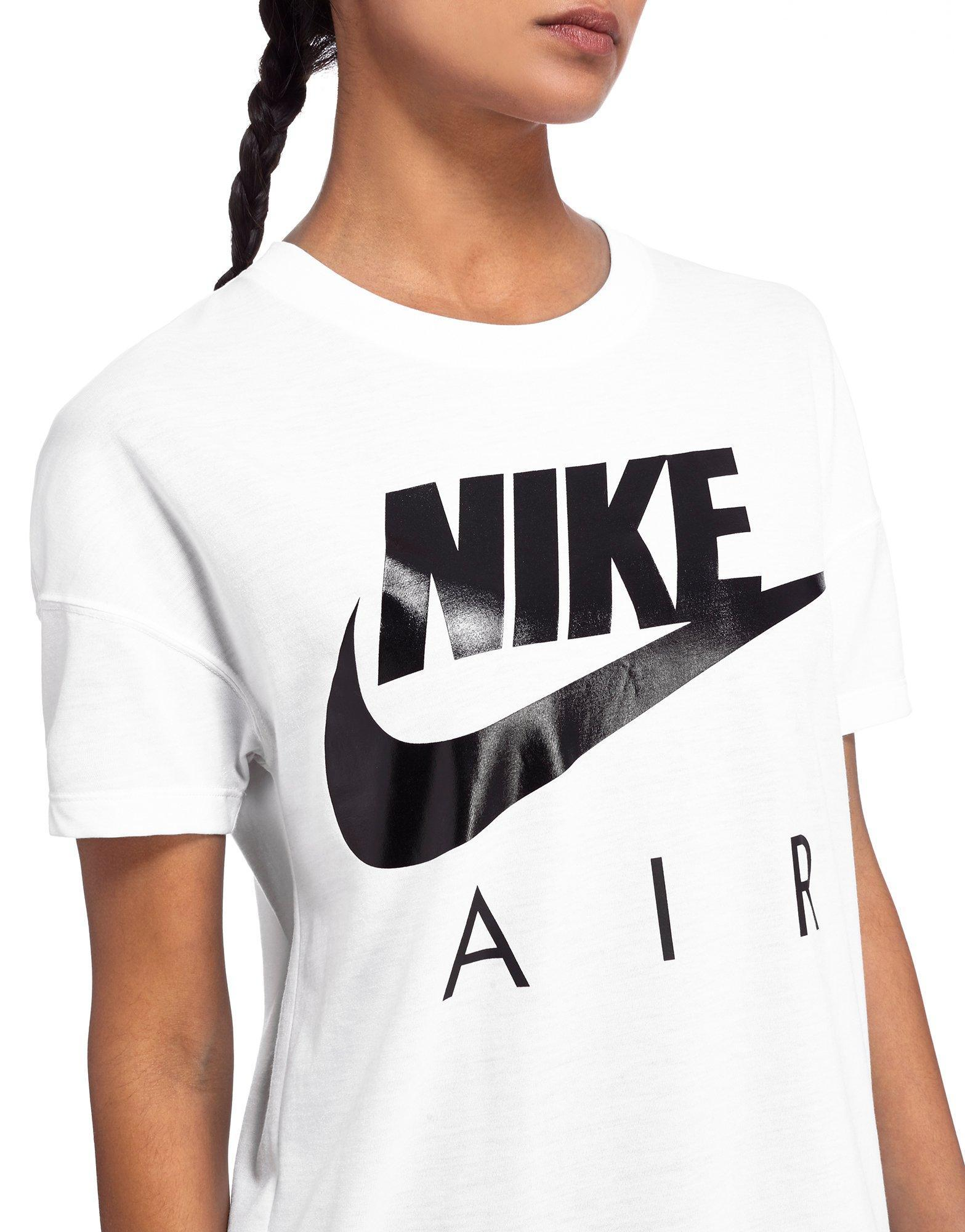 nike air t shirt in white lyst. Black Bedroom Furniture Sets. Home Design Ideas