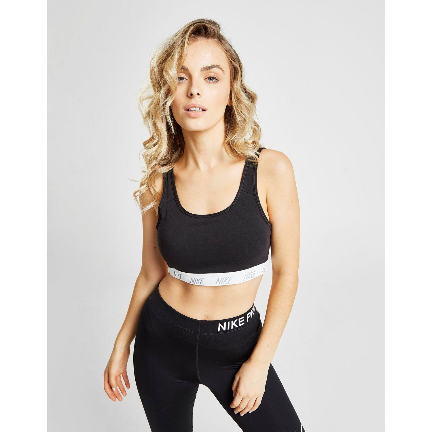ca6b2103e1 Lyst - Nike Classic Soft Medium-support Sports Bra in Black