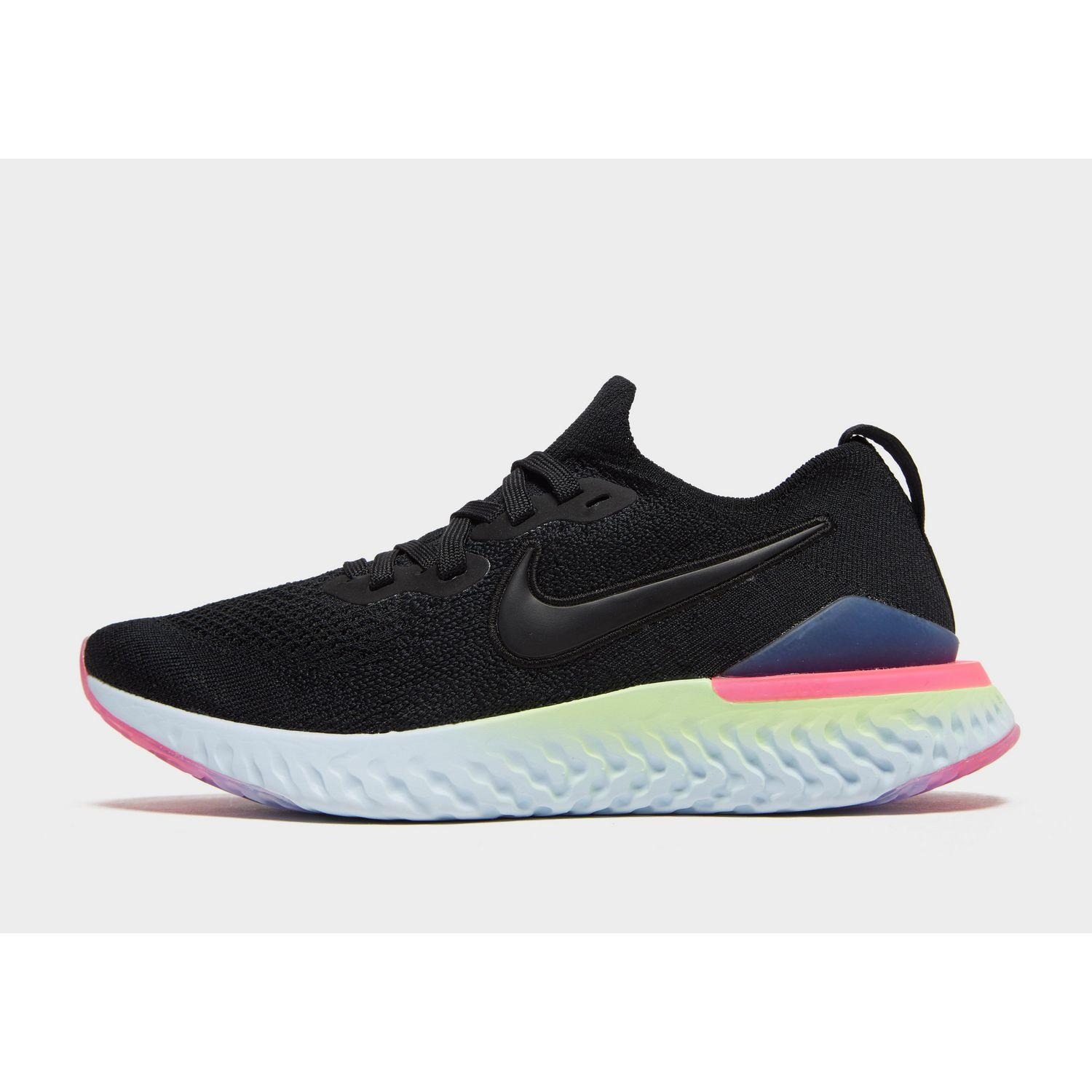 5a7014f517c0fe Nike Epic React Flyknit 2 in Black - Lyst