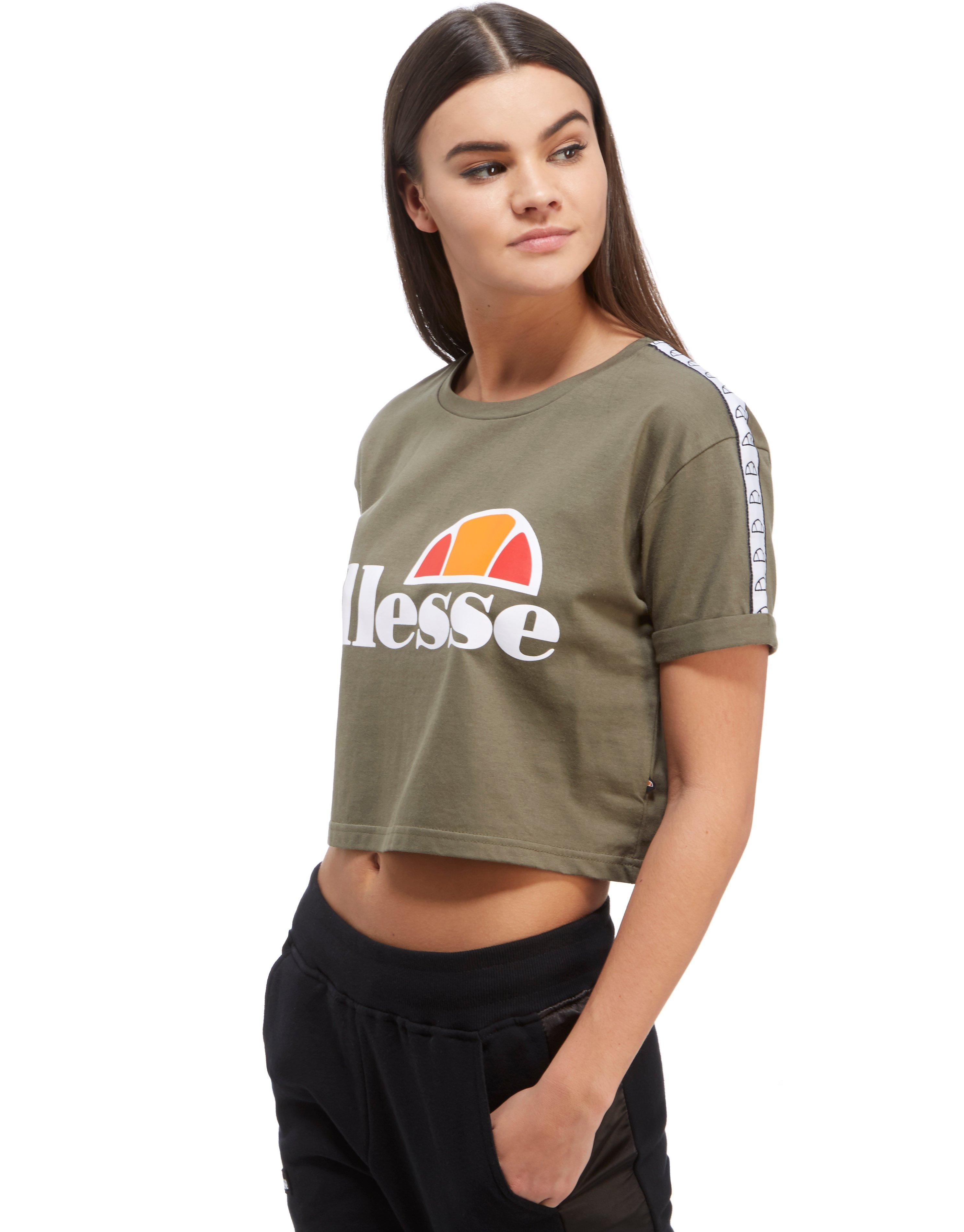 ellesse tape crop t shirt lyst. Black Bedroom Furniture Sets. Home Design Ideas