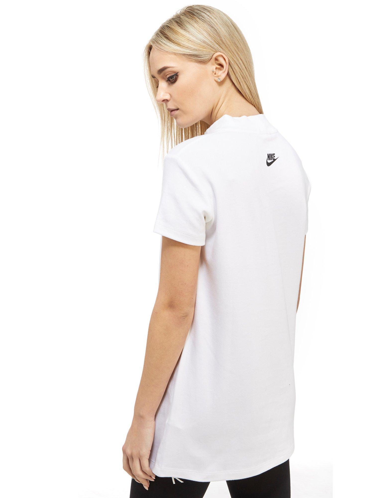 Lyst Nike Irreverent Mock Neck T Shirt In White