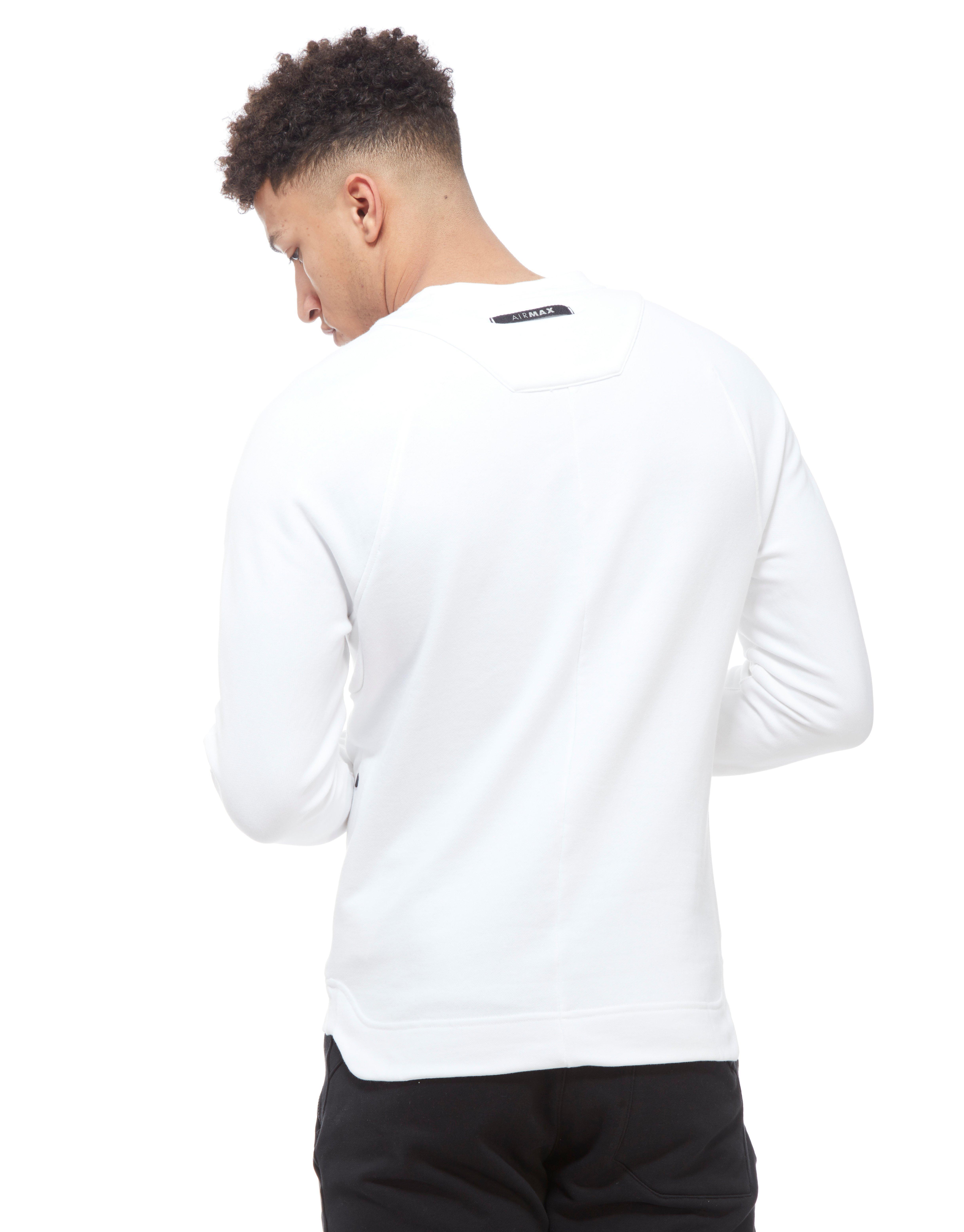 Lyst Nike Air Max Crew Sweatshirt In White For Men