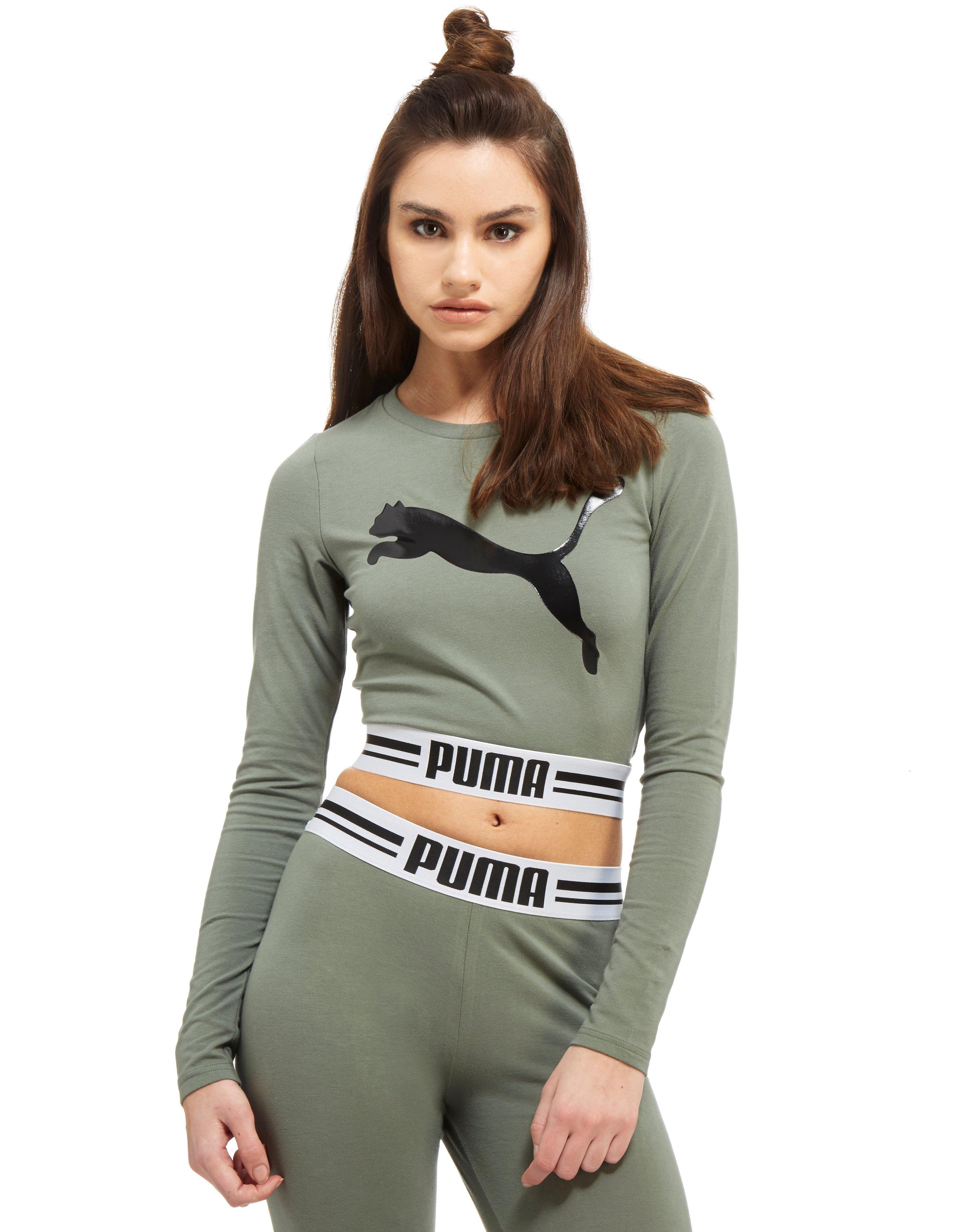 Lyst Puma Gloss Longsleeve Top In Green