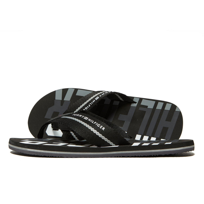 9bc336662dfcb9 Lyst - Tommy Hilfiger Bold Beach Flip Flops in Black for Men - Save 3%