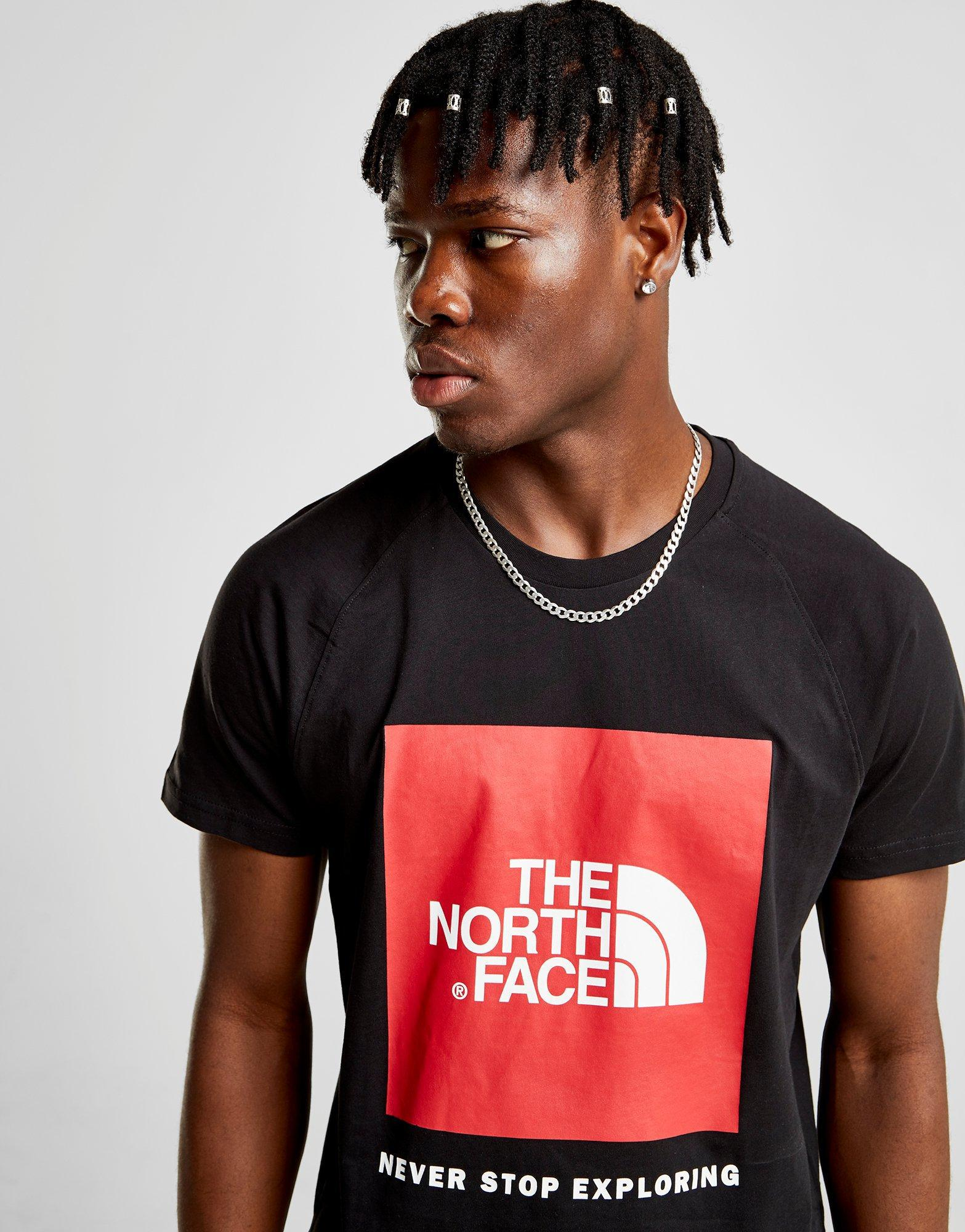 db5965ef30 Lyst - The North Face Raglan Redbox T-shirt in Black for Men