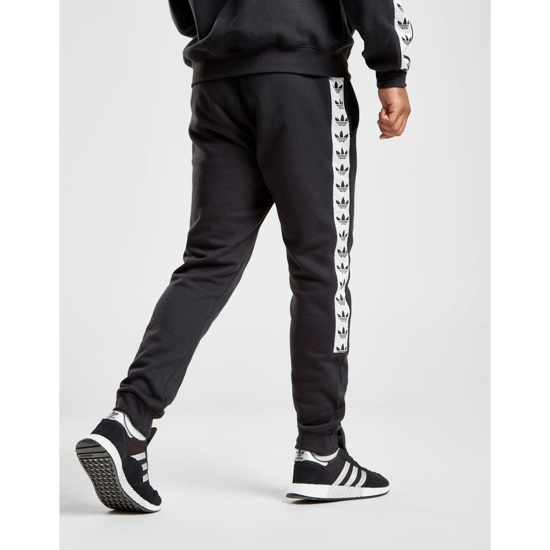 e95163884 adidas Originals Tape Fleece Track Pants in Black for Men - Lyst