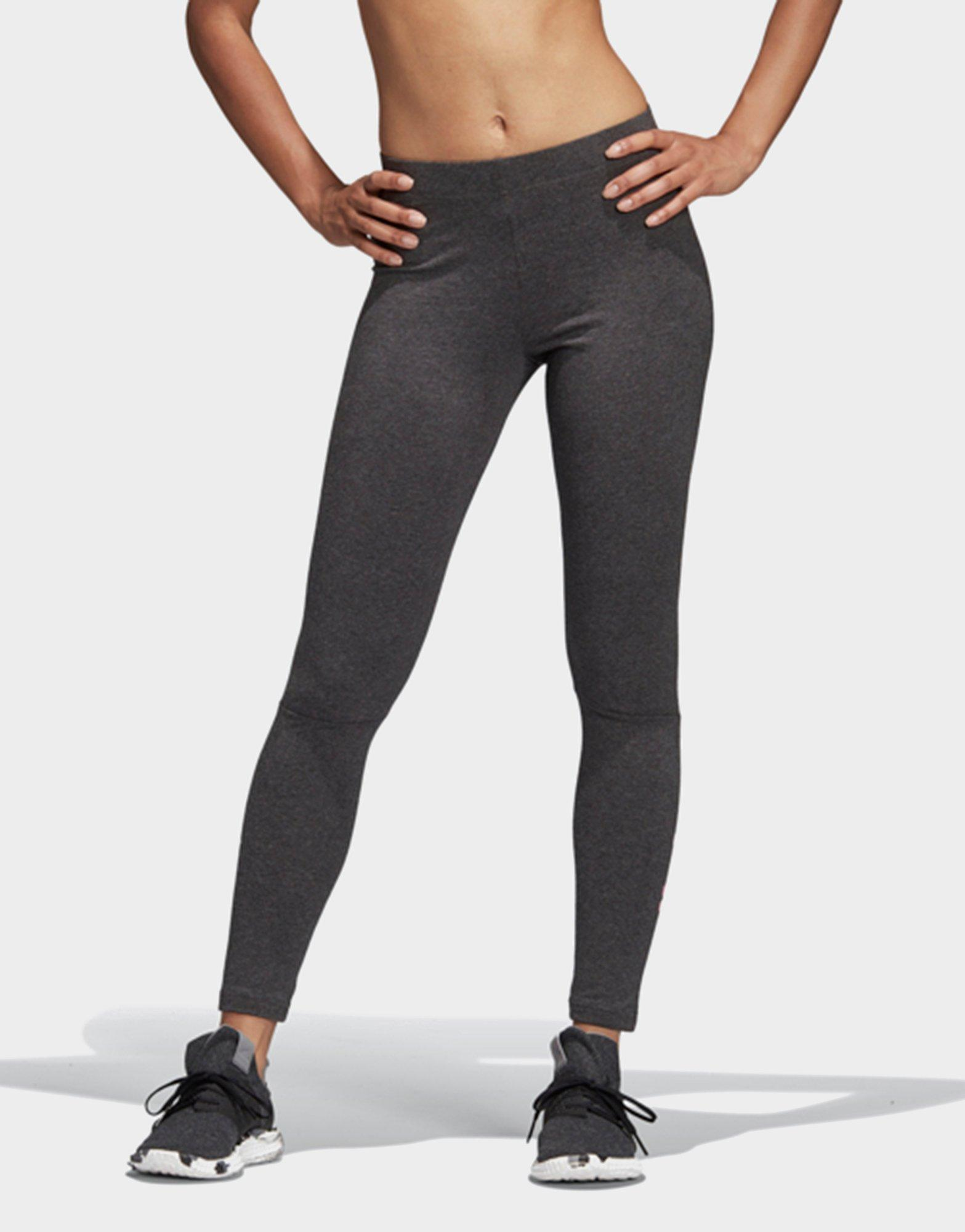b1fe0fcffb7a8 Adidas Essentials Linear Tights in Gray - Lyst