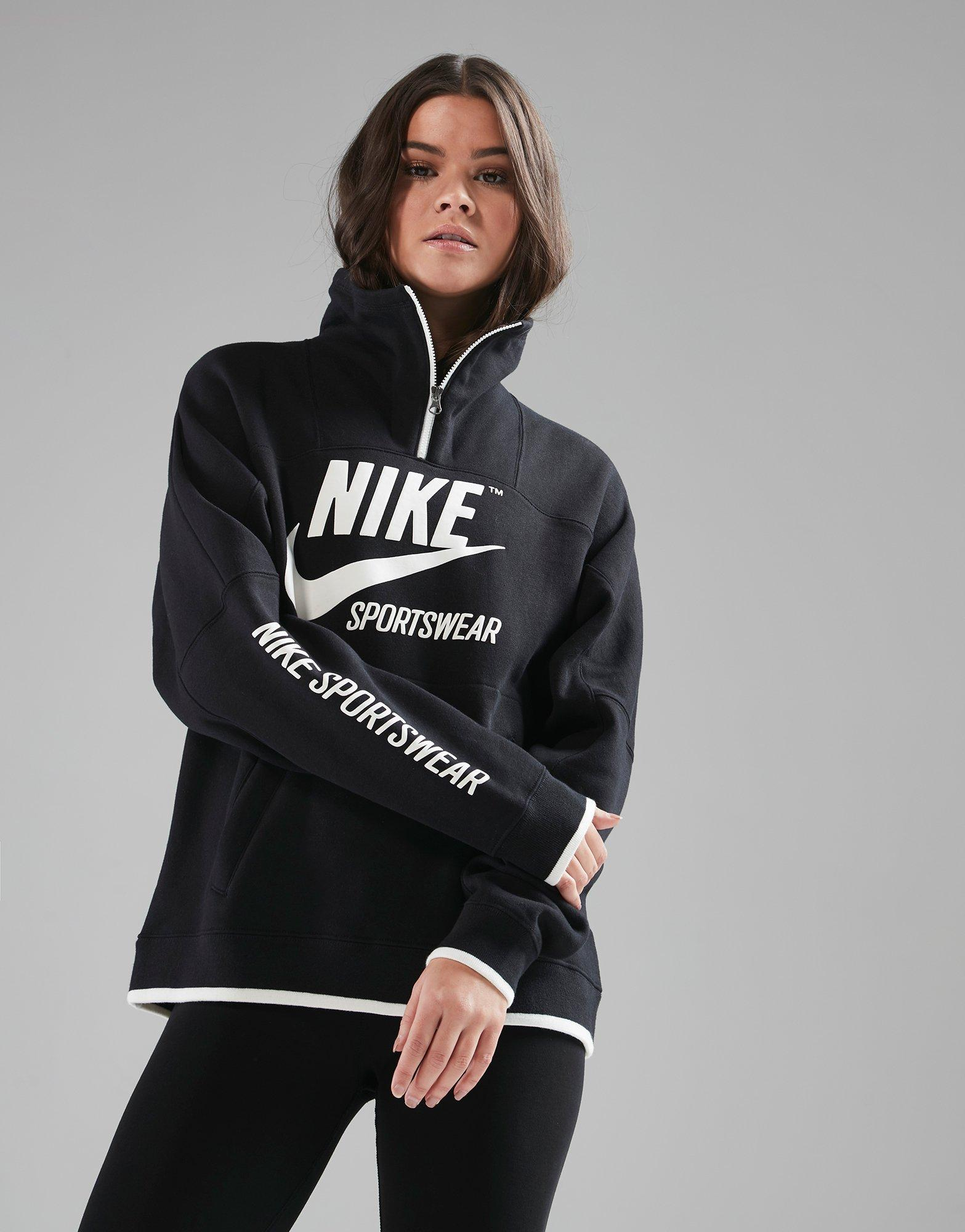 outlet store be58a a7fe4 ... Lyst - Nike Archive Half Zip Track Top in Black  Sportswear Archive  Womens ...