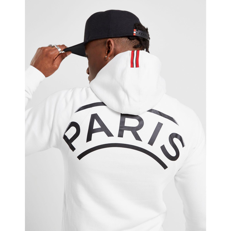 fa8d89fafe5 Nike X Paris Saint Germain Wings Full Zip Hoodie in White for Men - Lyst