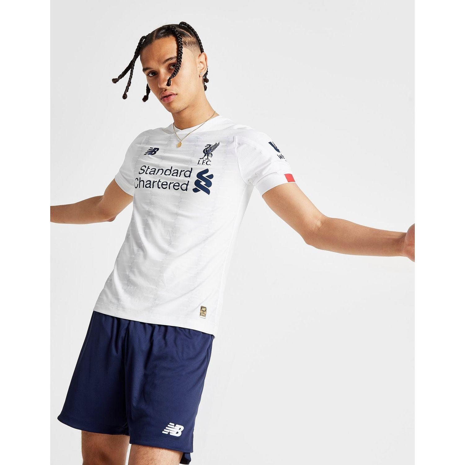 reputable site f5641 82d93 New Balance Liverpool Fc 2019/20 Elite Away Shirt in White ...