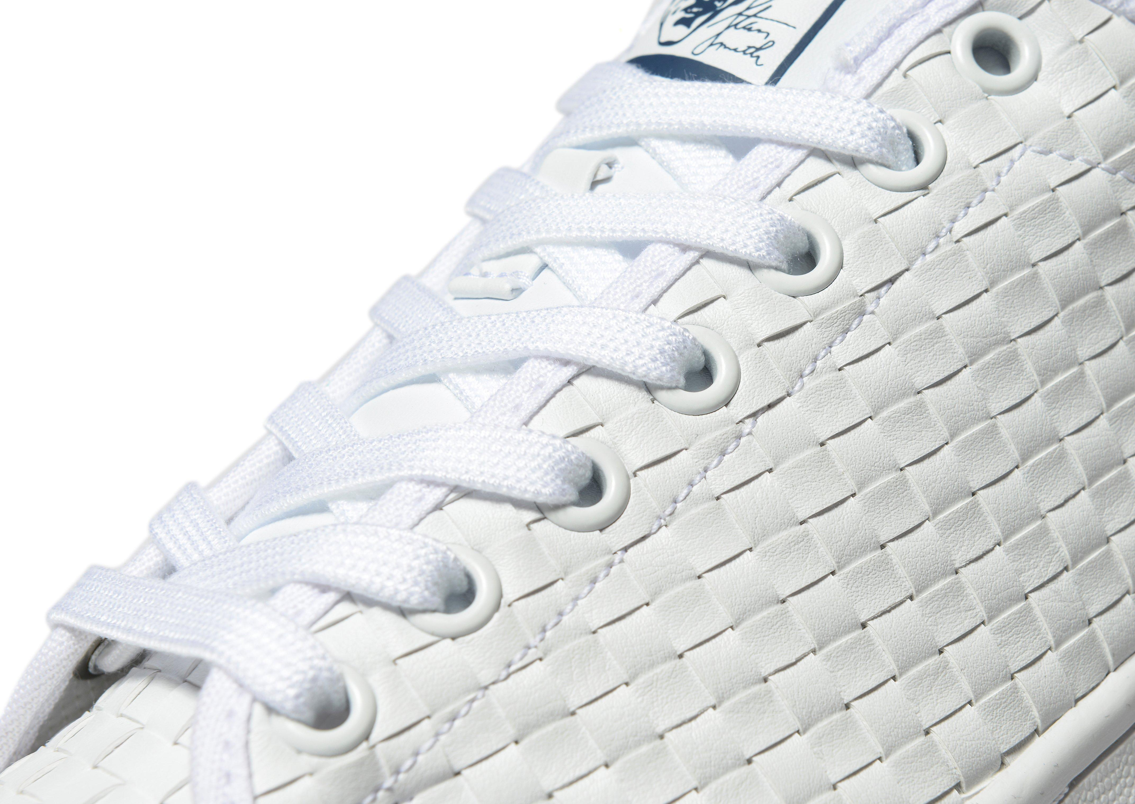 lyst adidas originals stan smith weave in white for men