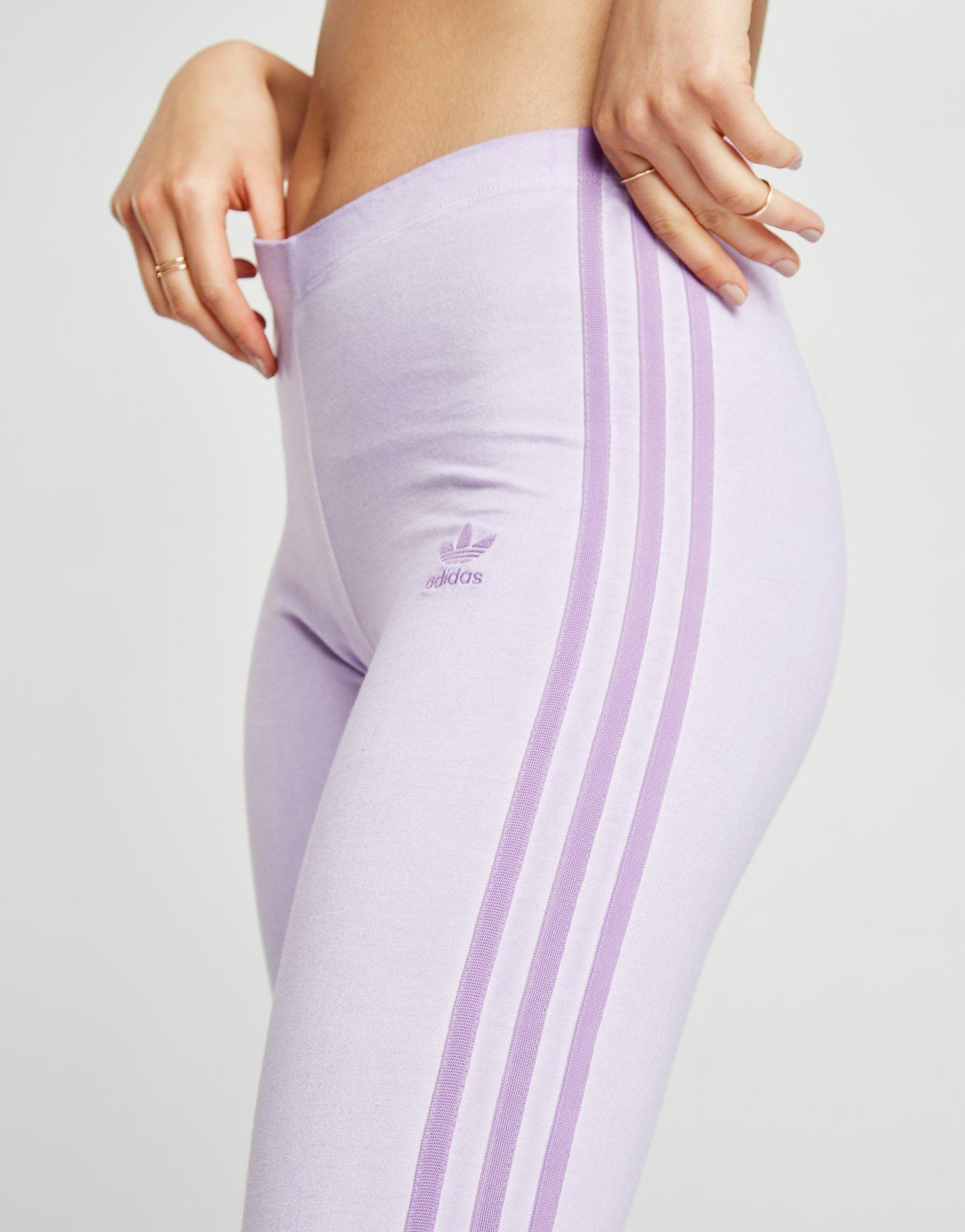 4e6780b65b900 adidas Originals Washed Leggings in Purple - Lyst
