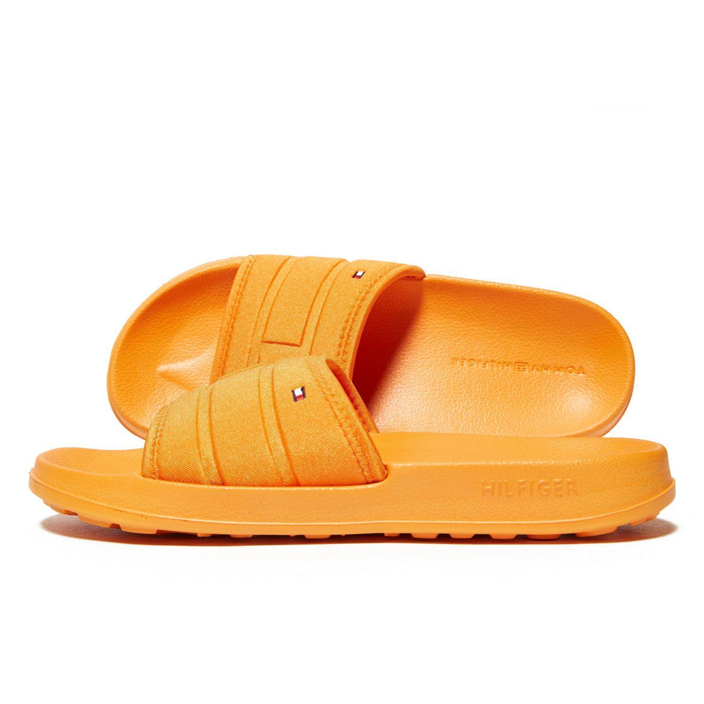 e53edf2945e58 Tommy Hilfiger Flag Pool Slides in Orange - Lyst