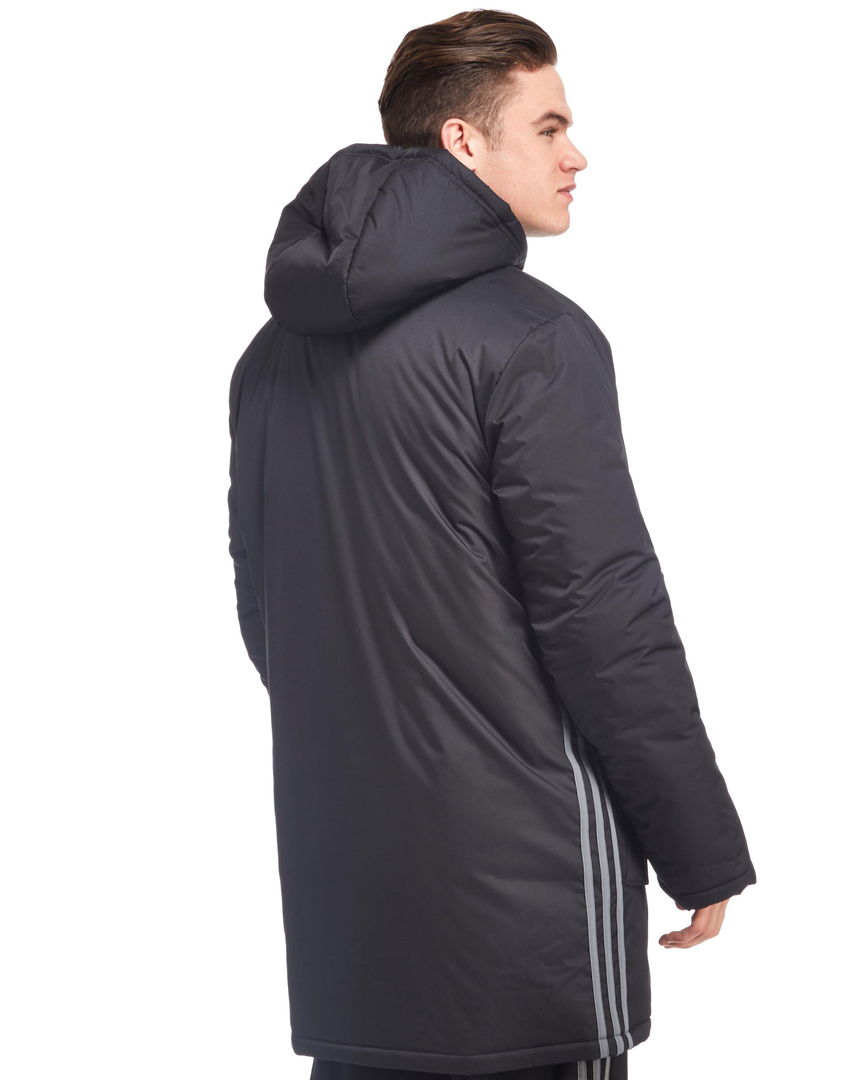 5be62d762704 adidas Originals Wales 2016 17 Stadium Jacket in Black for Men - Lyst