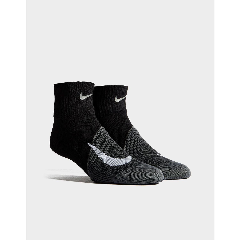 7fa7c9d05 Lyst - Nike Running Elite Lightweight Quarter Socks in Black for Men