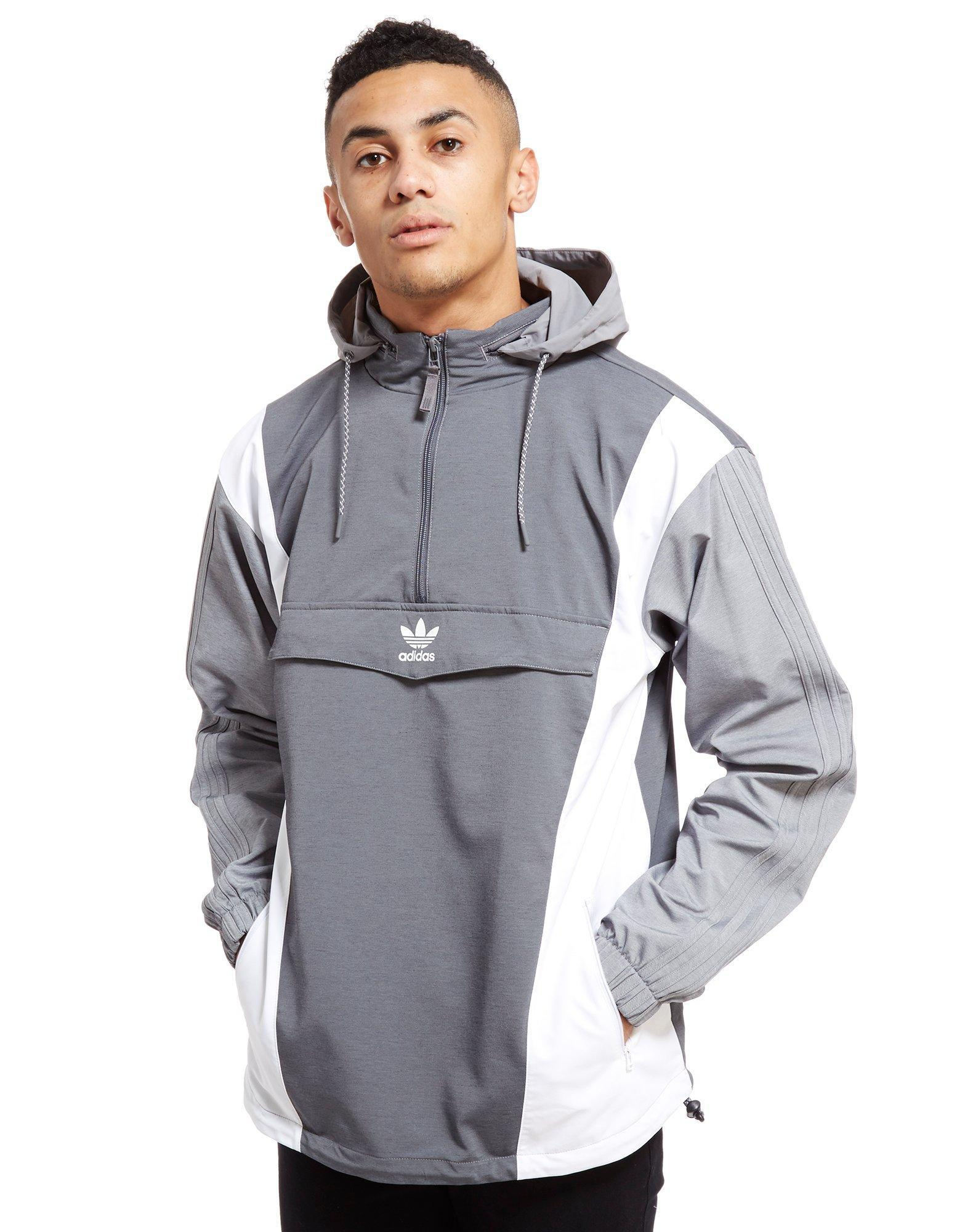 86d95cbb28bb adidas Originals Nova Half Zip Jacket in Gray for Men - Lyst