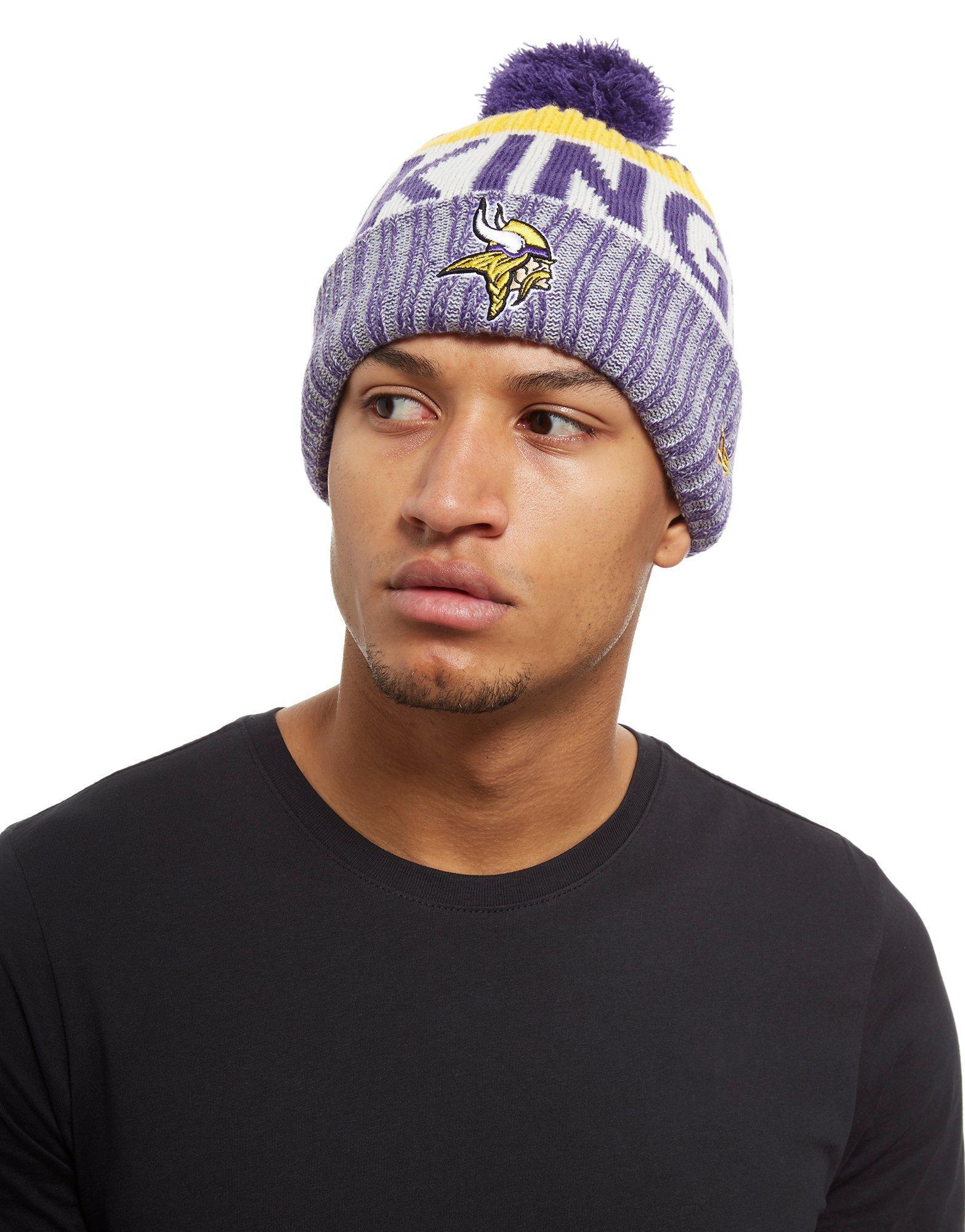 Lyst - KTZ Minnesota Vikings Sideline Knitted Hat in Purple for Men b1e80657c