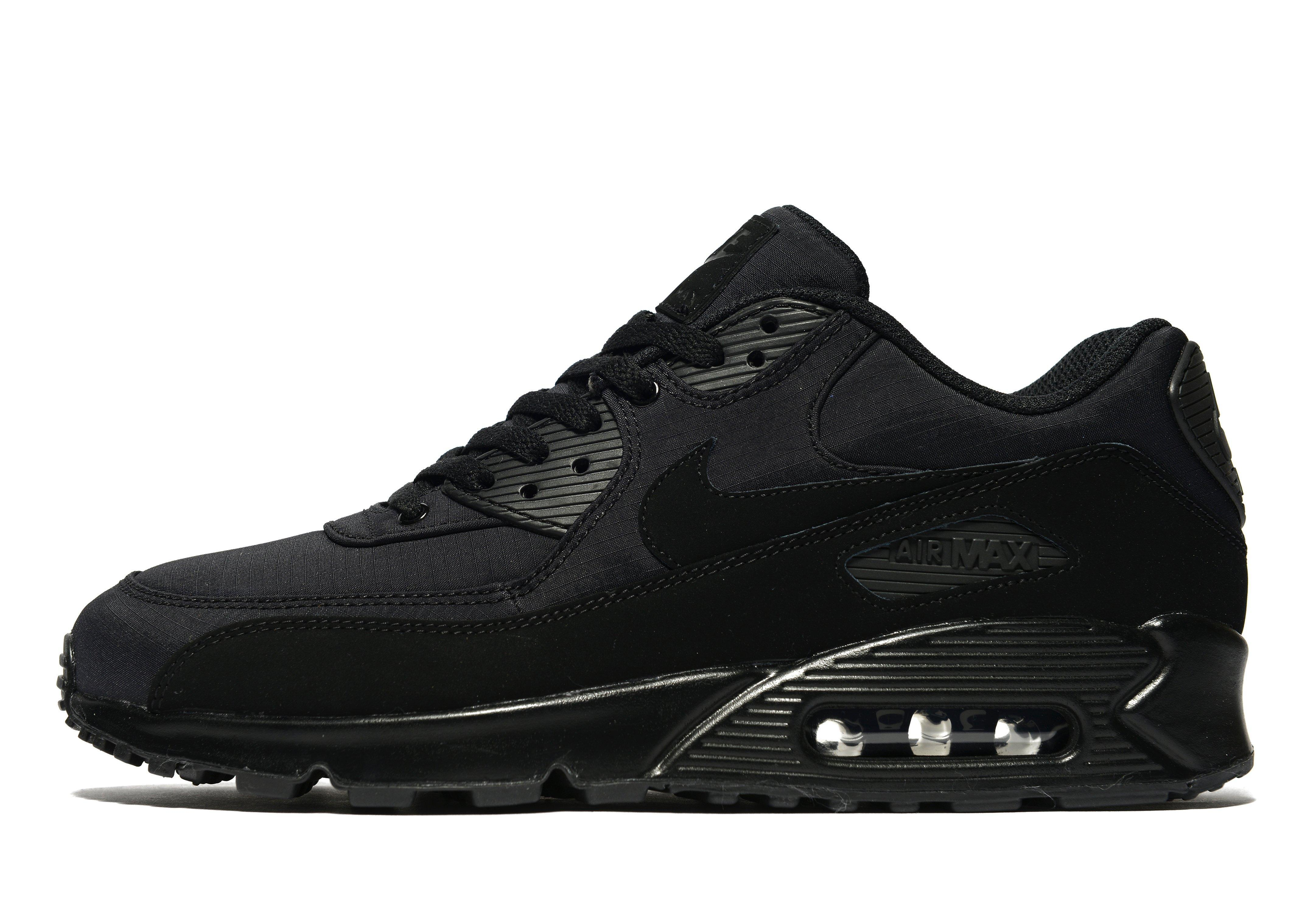 nike air max 90 ripstop in black for men lyst. Black Bedroom Furniture Sets. Home Design Ideas