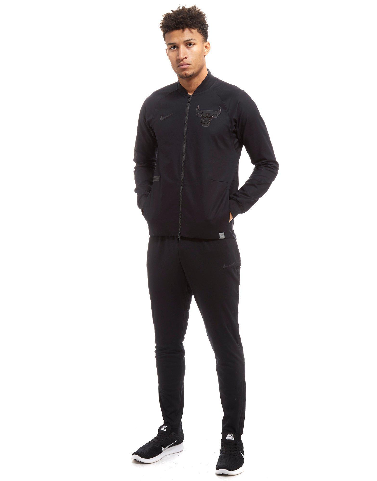 Lyst - Nike Nba Chicago Bulls Varsity Jacket in Black for Men 668ba1221033