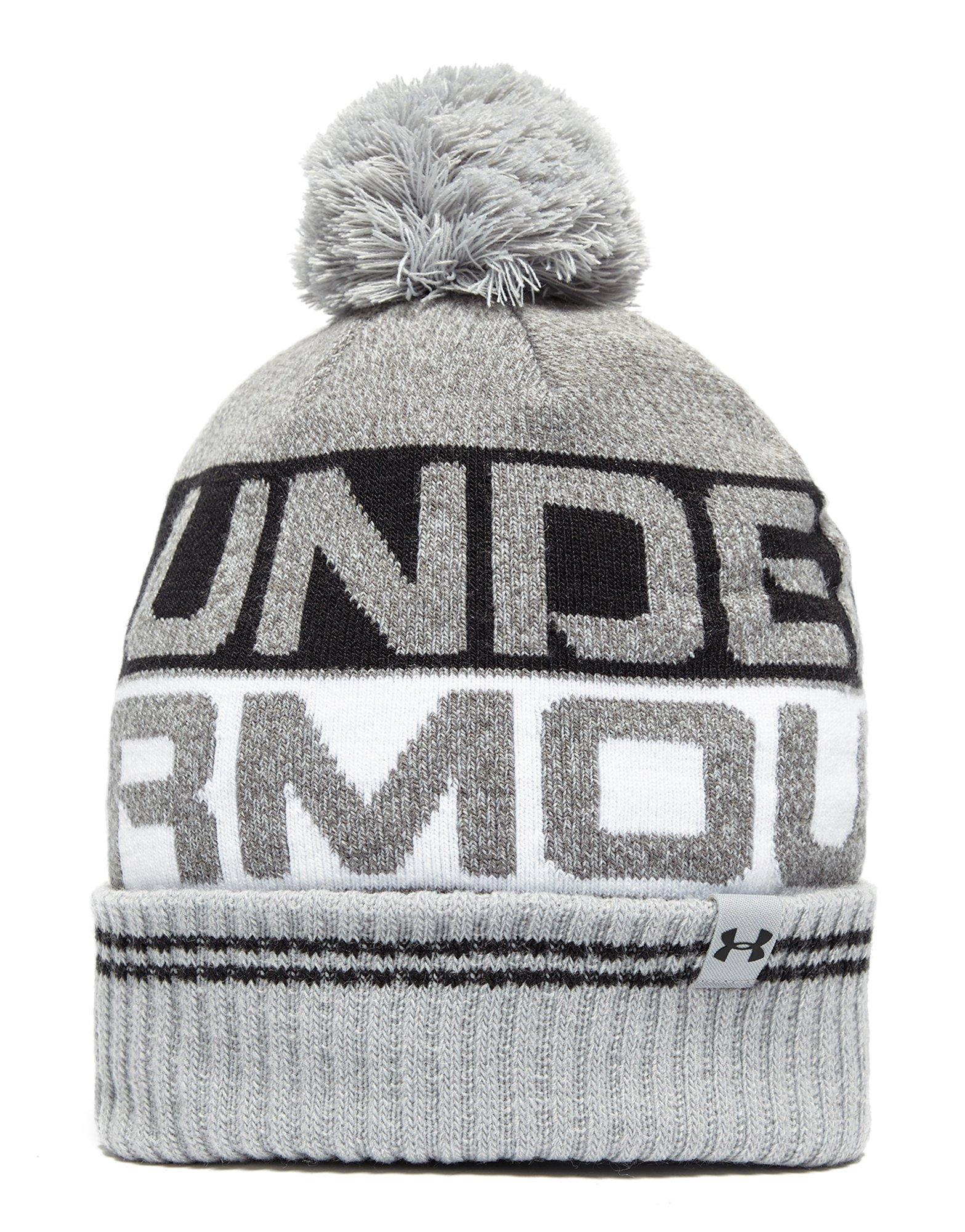 1cfd90daa9a Lyst - Under Armour Retro Pom 2.0 Beanie Hat in Gray for Men