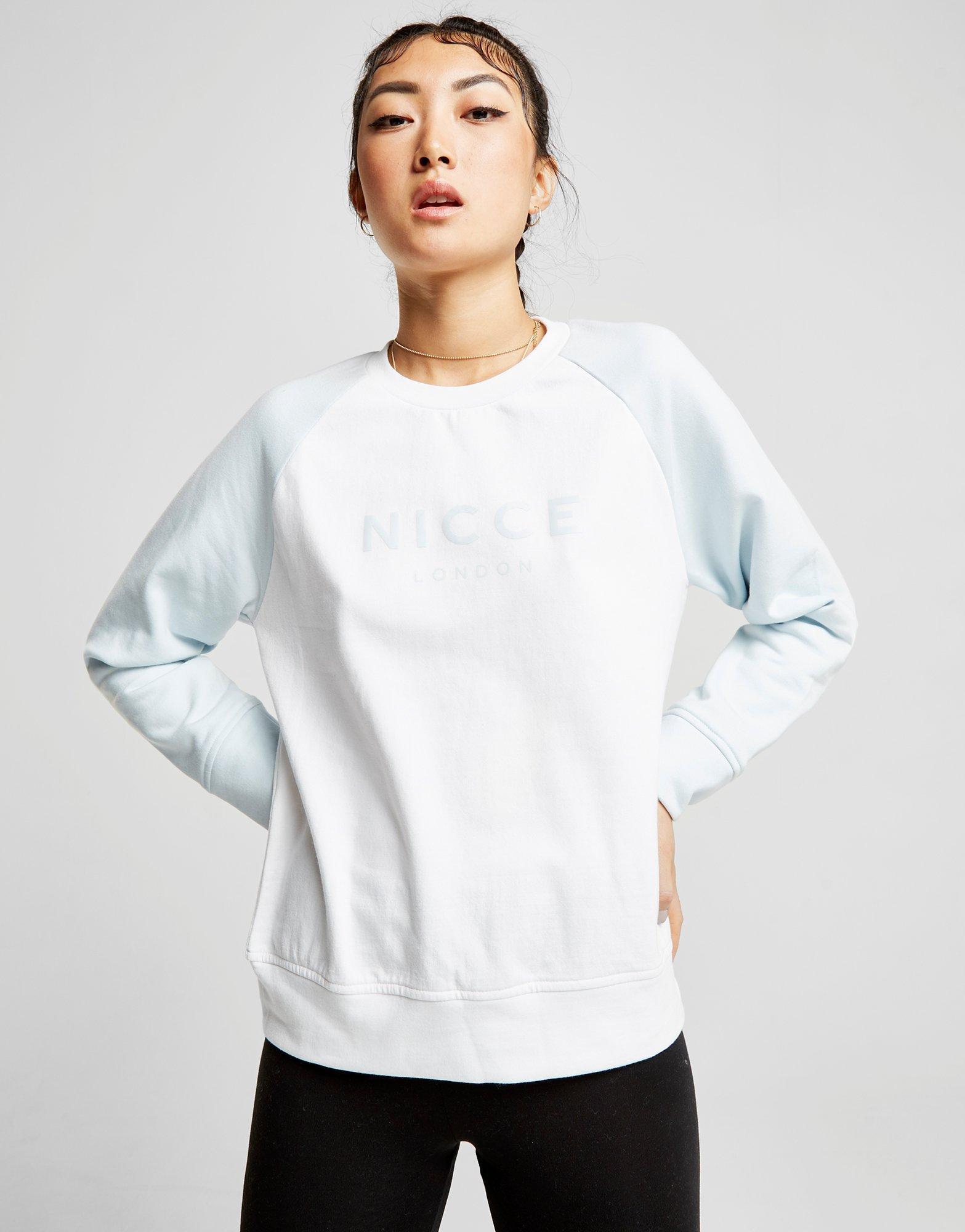 Nicce London Raglan Logo Crew Sweatshirt - / - Womens Choice Cheap Price 7WDx38
