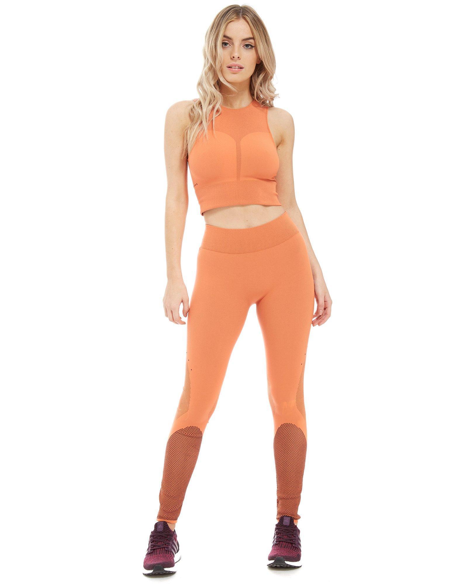 9a6a155d9106a adidas Warp Knit Tights in Orange - Lyst