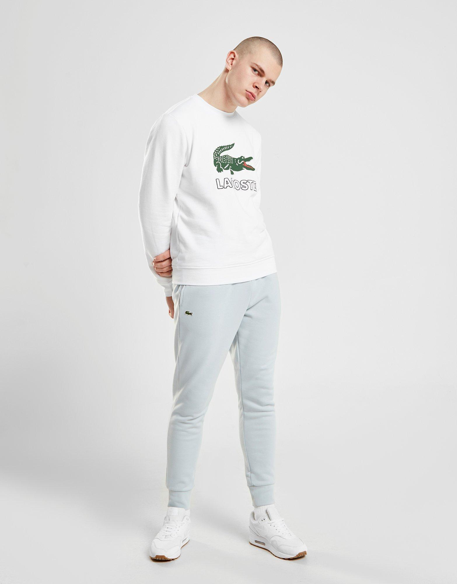 09a6e855a79e33 Lyst - Lacoste Large Logo Vintage Crew Sweatshirt in White for Men