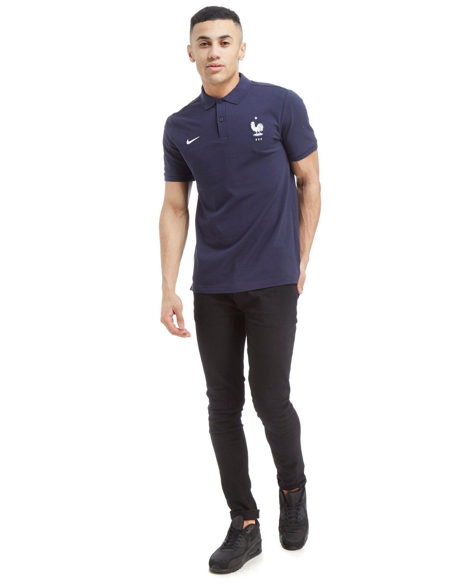 Lyst Nike France Polo Shirt In Blue For Men